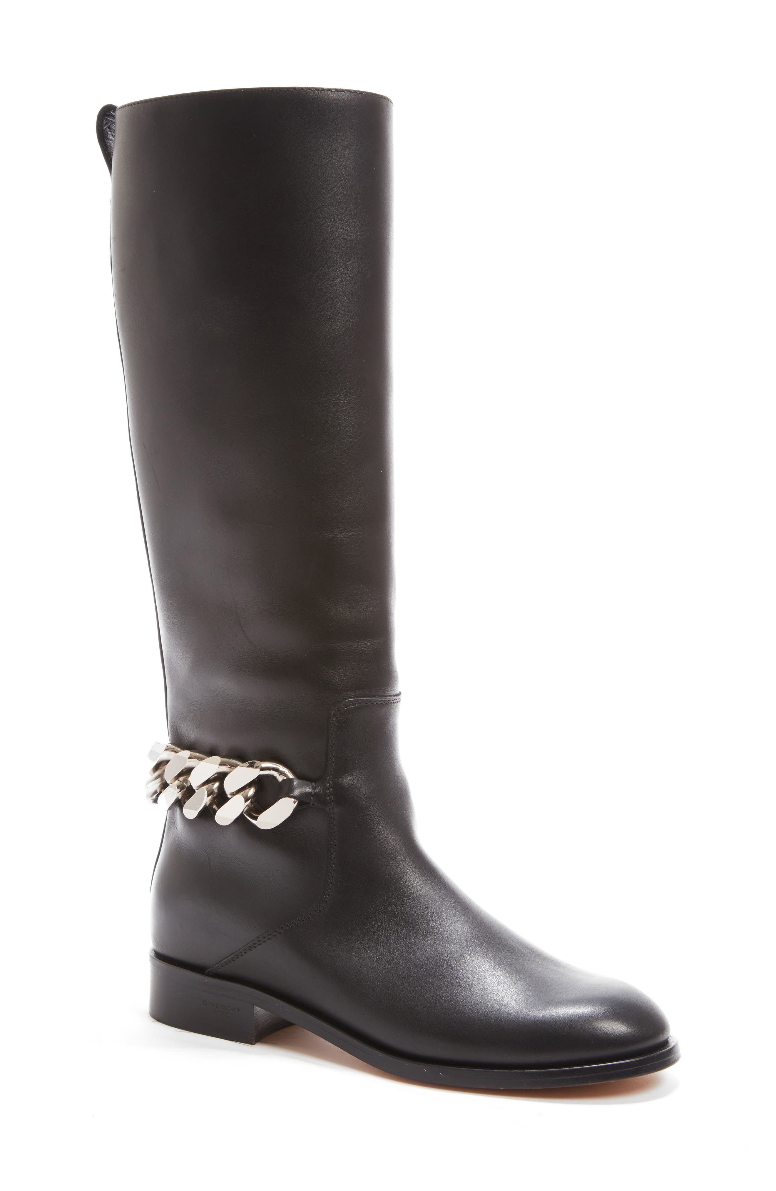 Chain Tall Boot,                         Main,                         color, 001