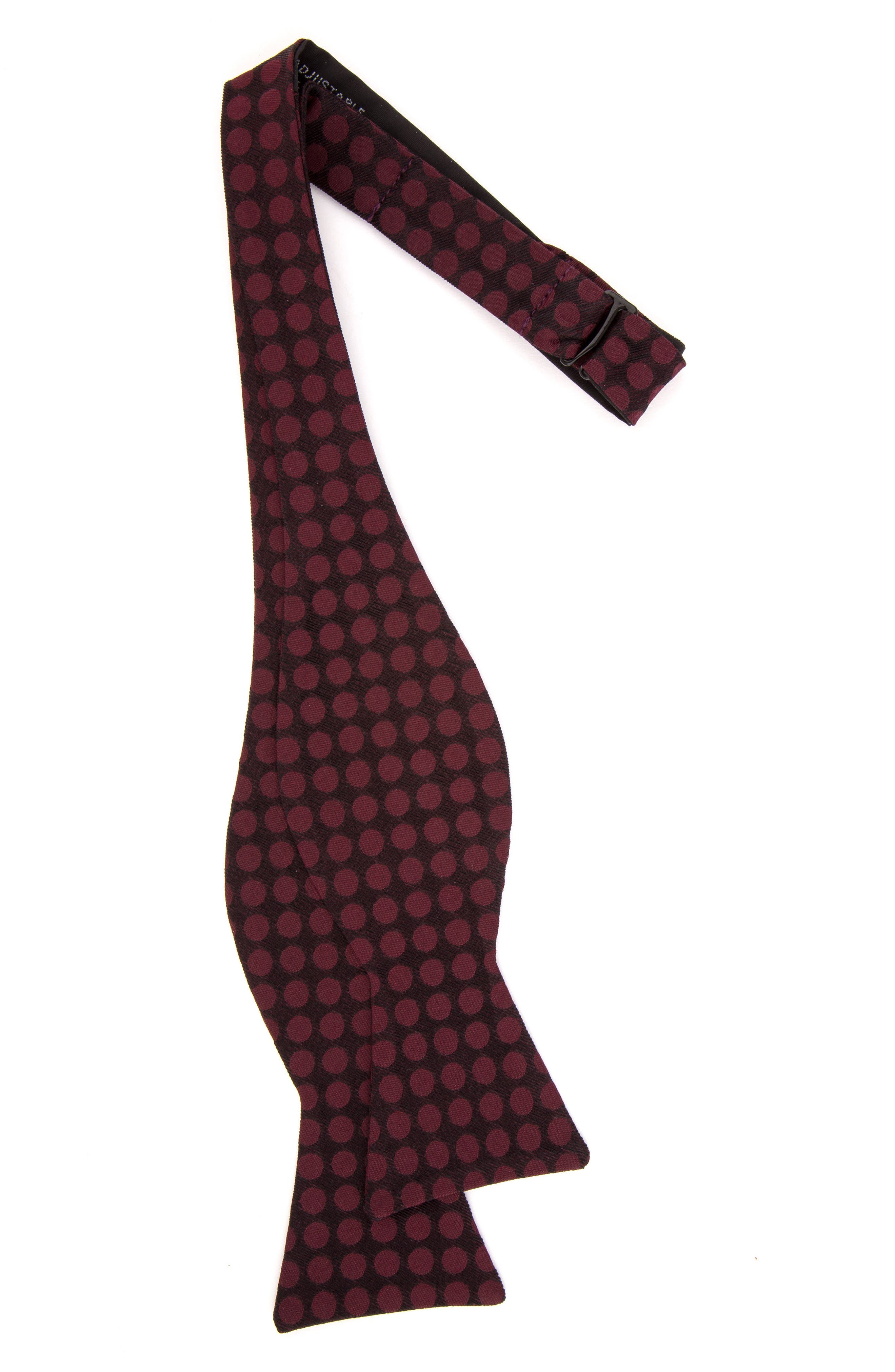 Double Dots Silk Bow Tie,                             Alternate thumbnail 9, color,