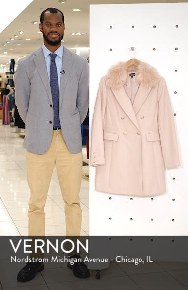 Naomi Faux Fur Collar Coat, sales video thumbnail