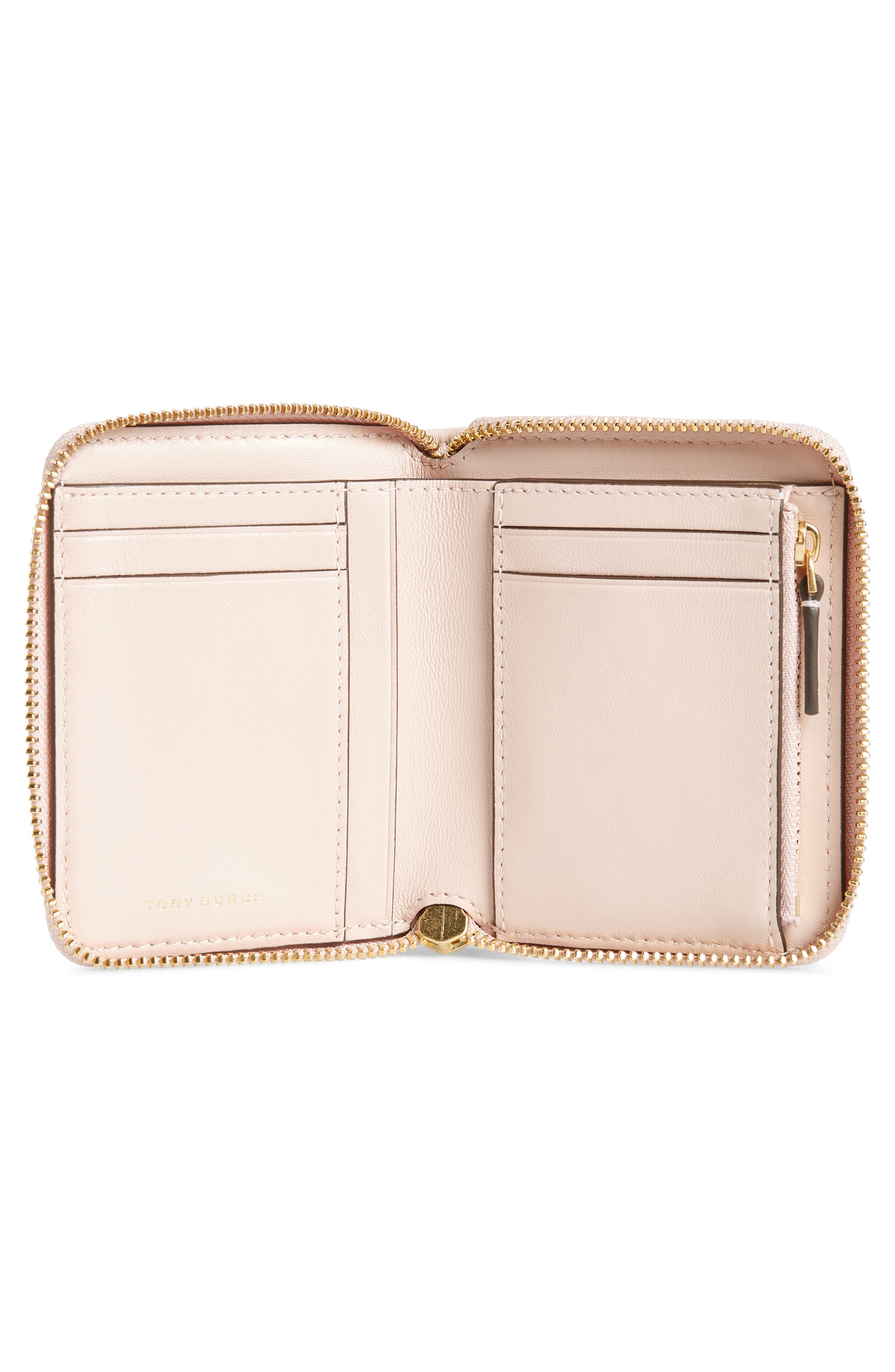 Fleming Medium Leather Zip Around Wallet,                             Alternate thumbnail 2, color,                             SHELL PINK