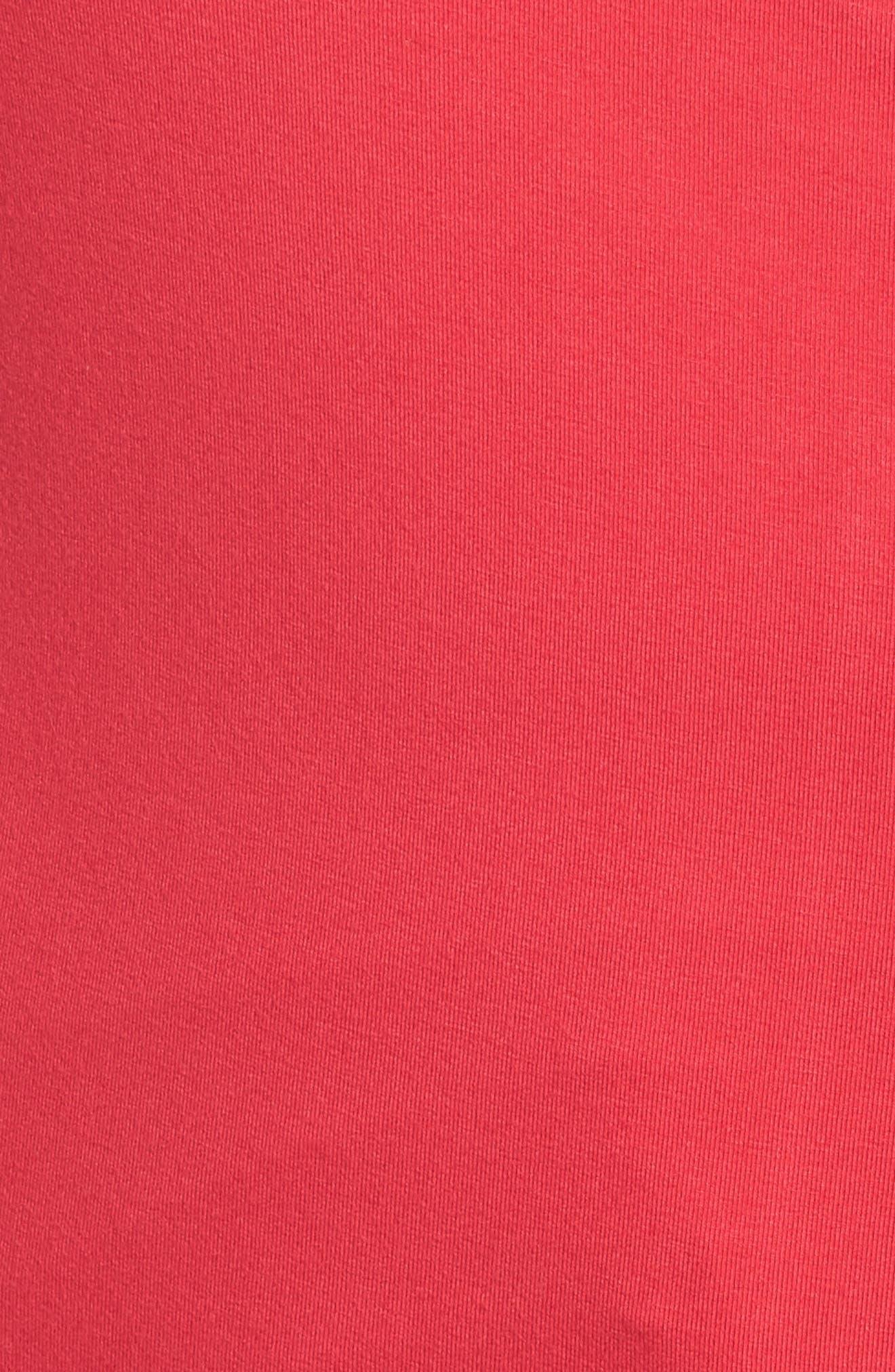 Surplice Knit Top,                             Alternate thumbnail 5, color,                             PINK ROSE