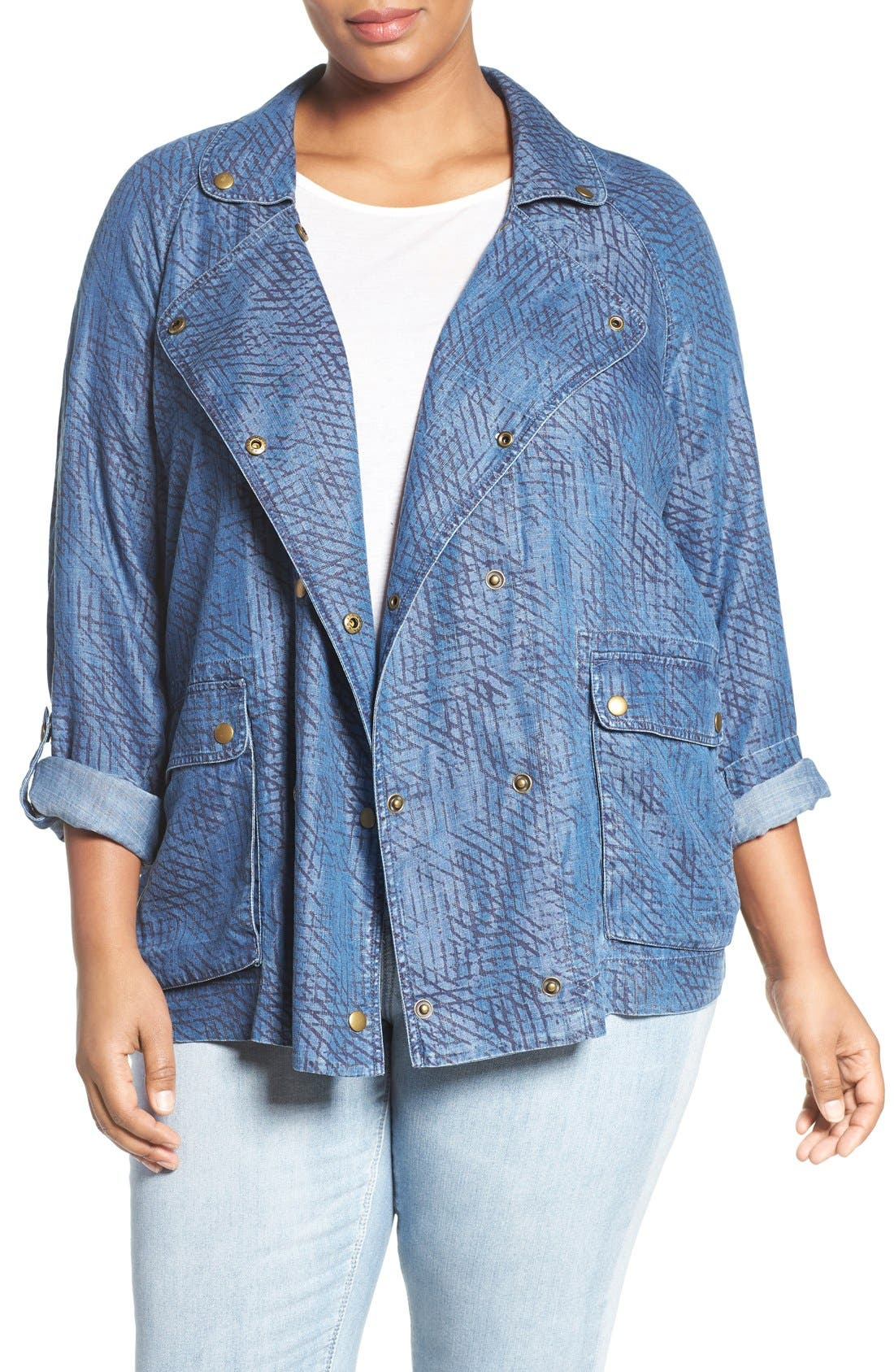 Tart 'SYDEN' DOUBLE BREASTED CHAMBRAY JACKET