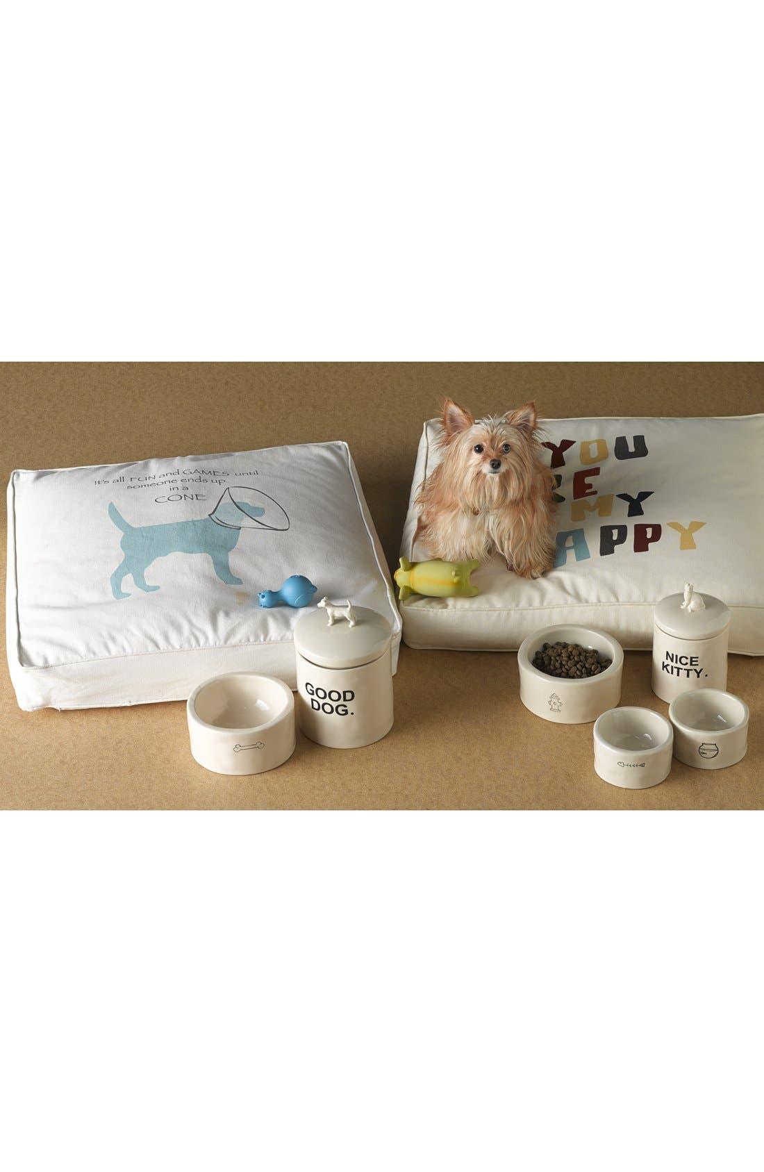 'Slurp/Meow' Ceramic Cat Bowls,                             Alternate thumbnail 2, color,                             100