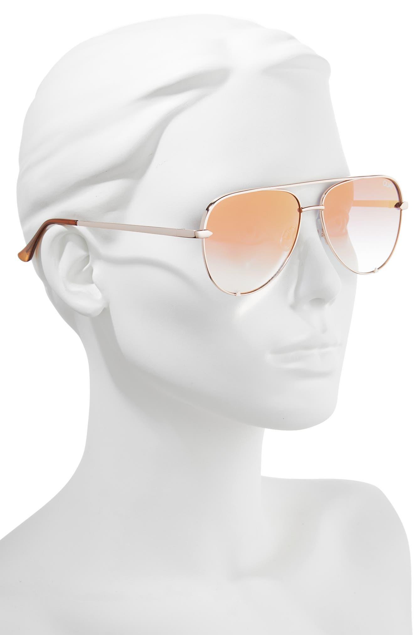 x Desi Perkins High Key Mini 57mm Aviator Sunglasses,                             Alternate thumbnail 2, color,                             ROSE/ CPRFD