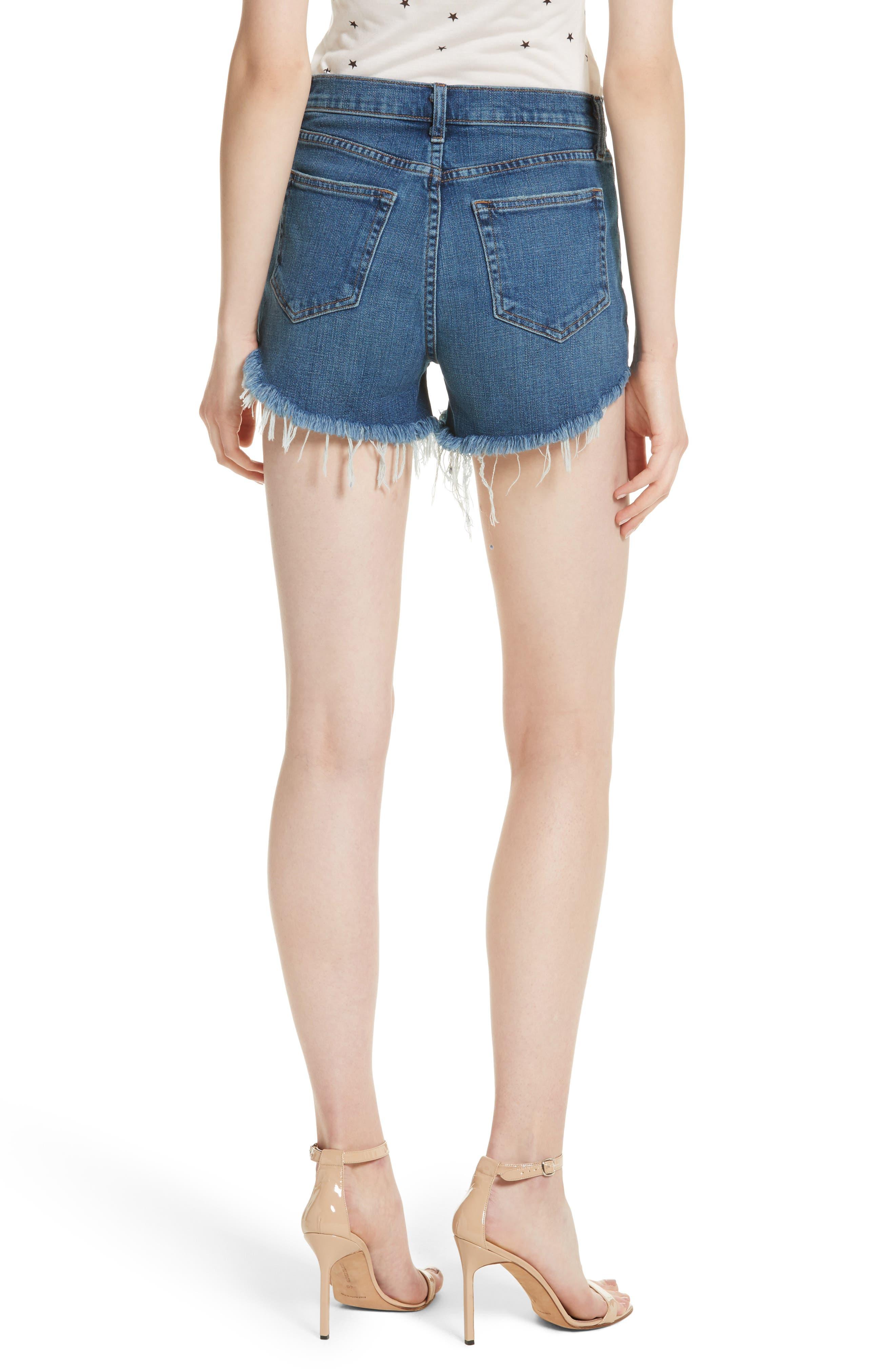 Ryland High Waist Denim Shorts,                             Alternate thumbnail 2, color,                             AUTHENTIQUE