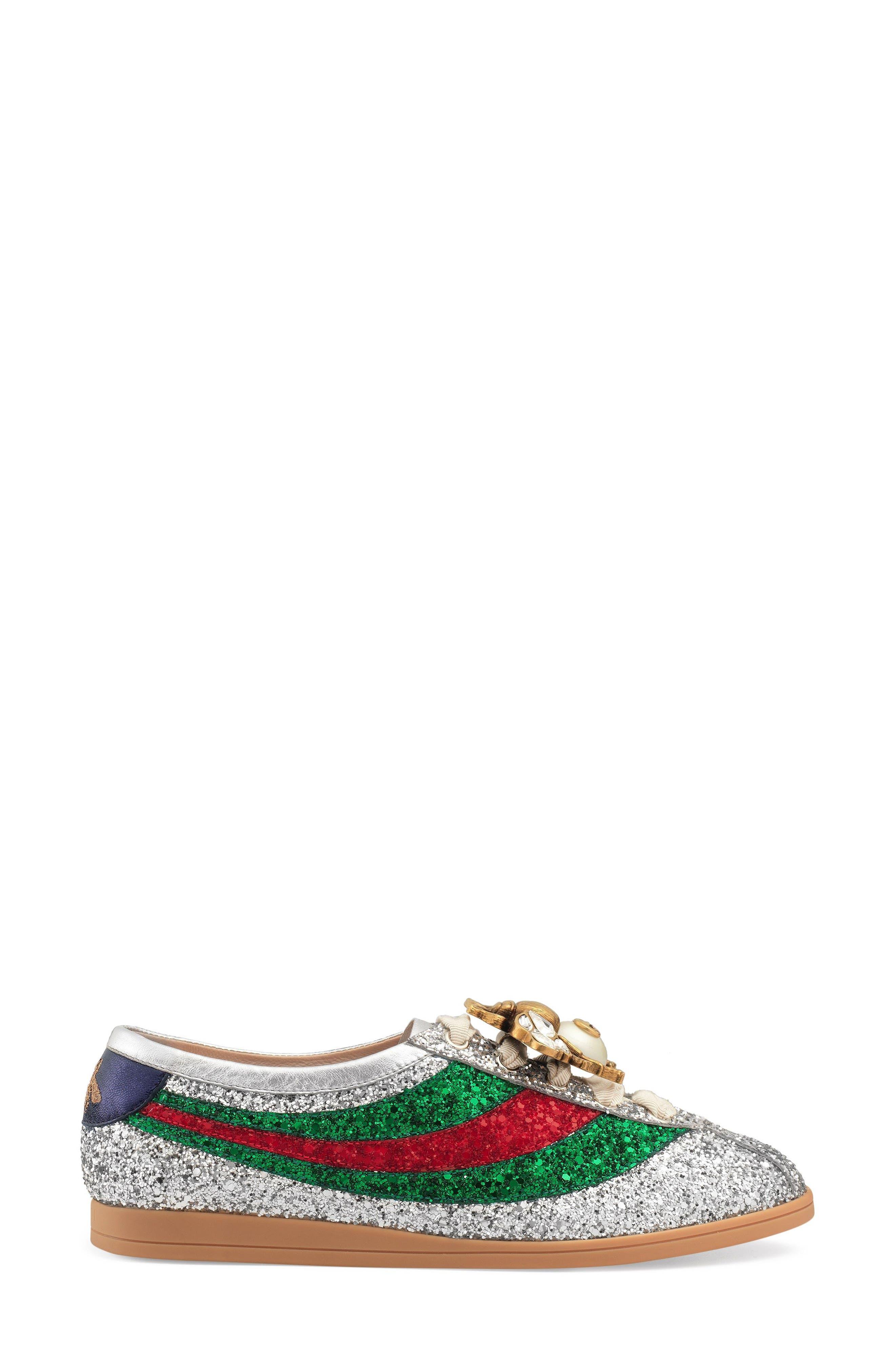 Falacer Glitter Sneaker,                             Alternate thumbnail 3, color,