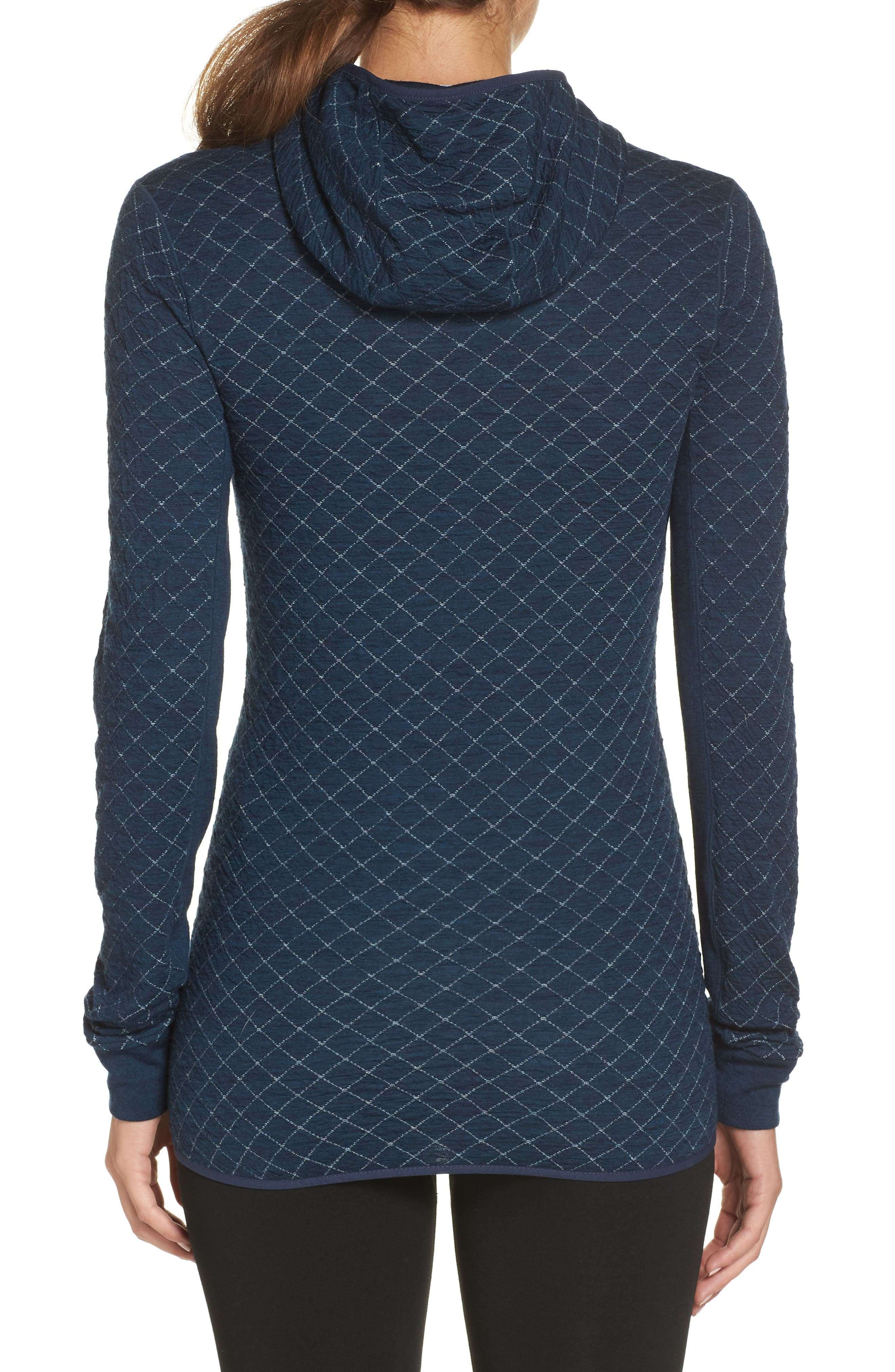 Affinity Thermo Hooded Pullover,                             Alternate thumbnail 2, color,                             ECLIPSE HEATHER