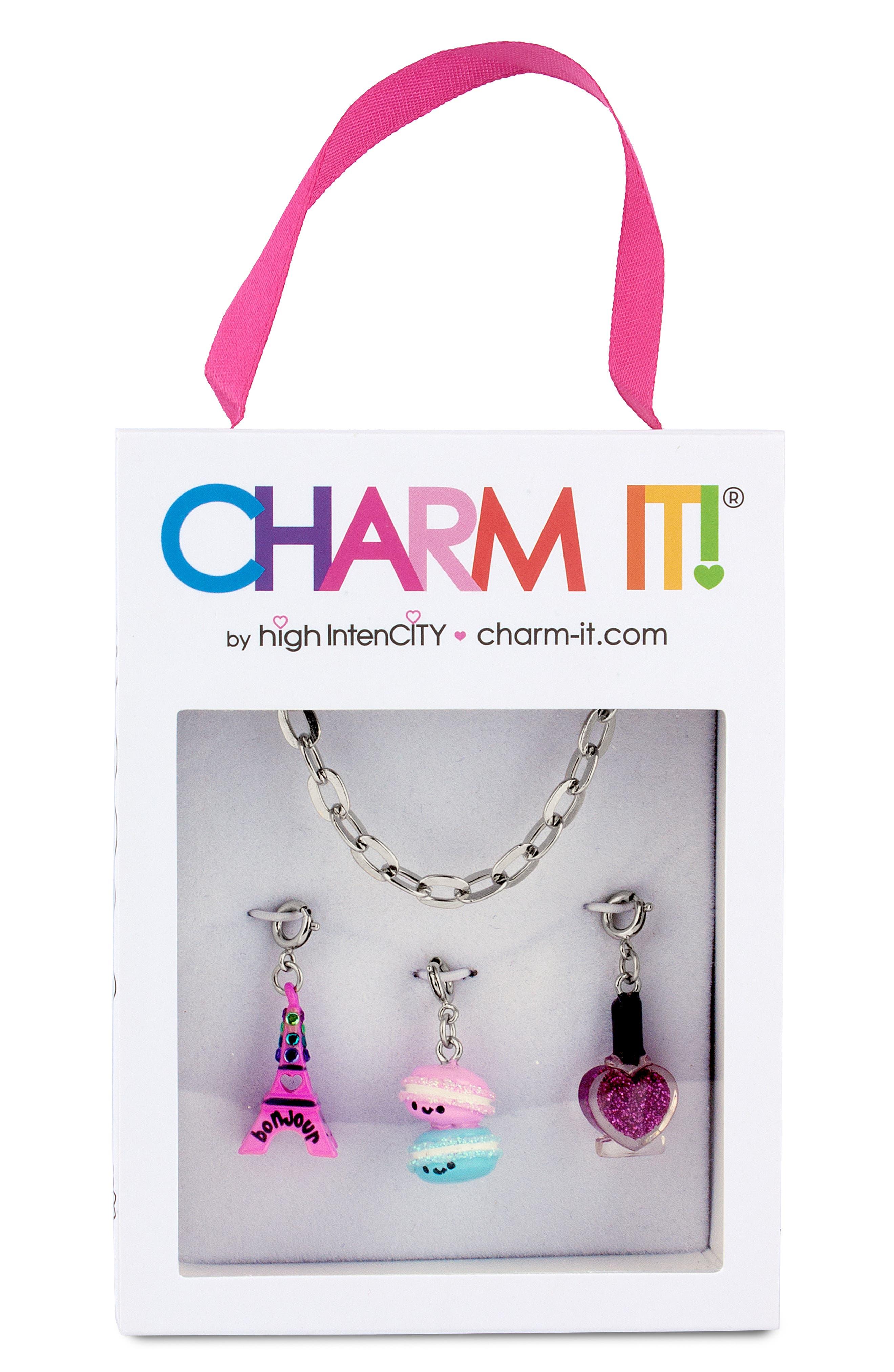 Parisian Charm Bracelet Gift Set,                             Main thumbnail 1, color,                             SILVER