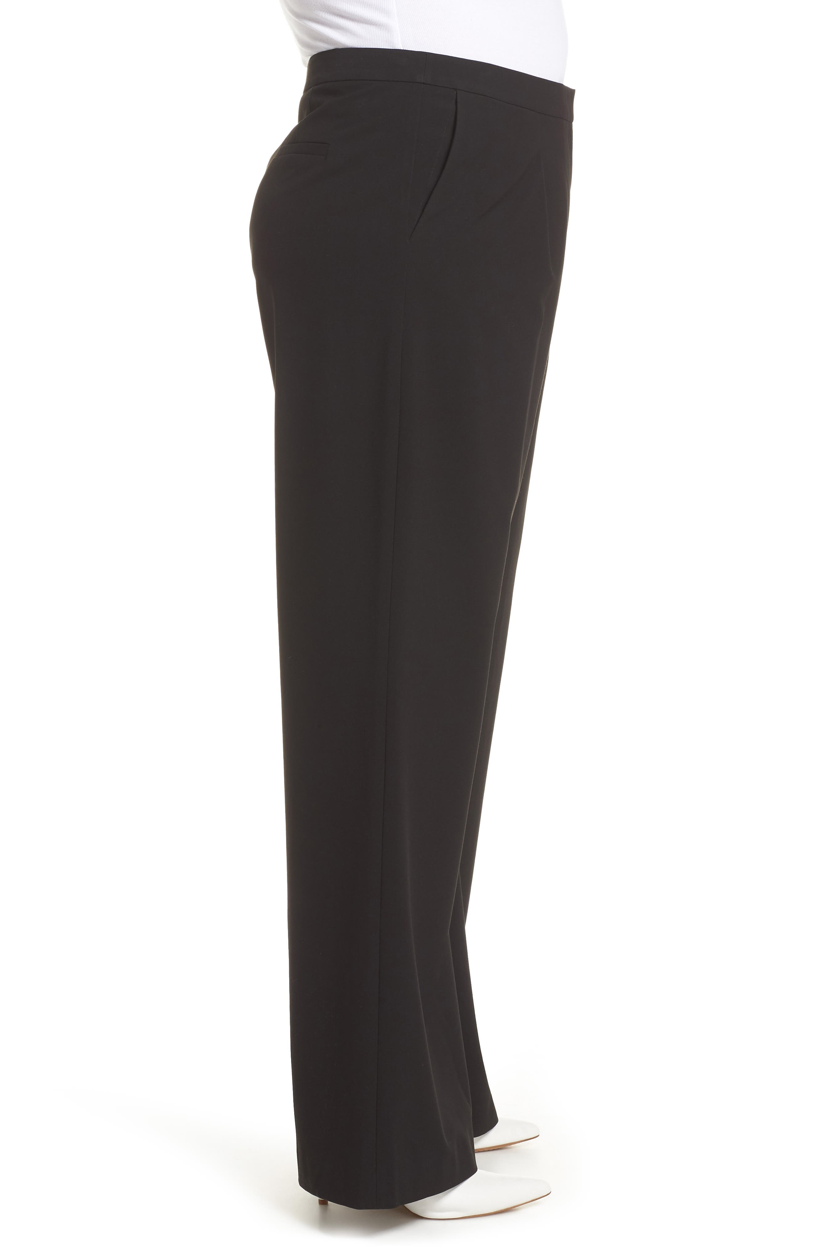 High Waist Wide Leg Pants,                             Alternate thumbnail 3, color,                             001