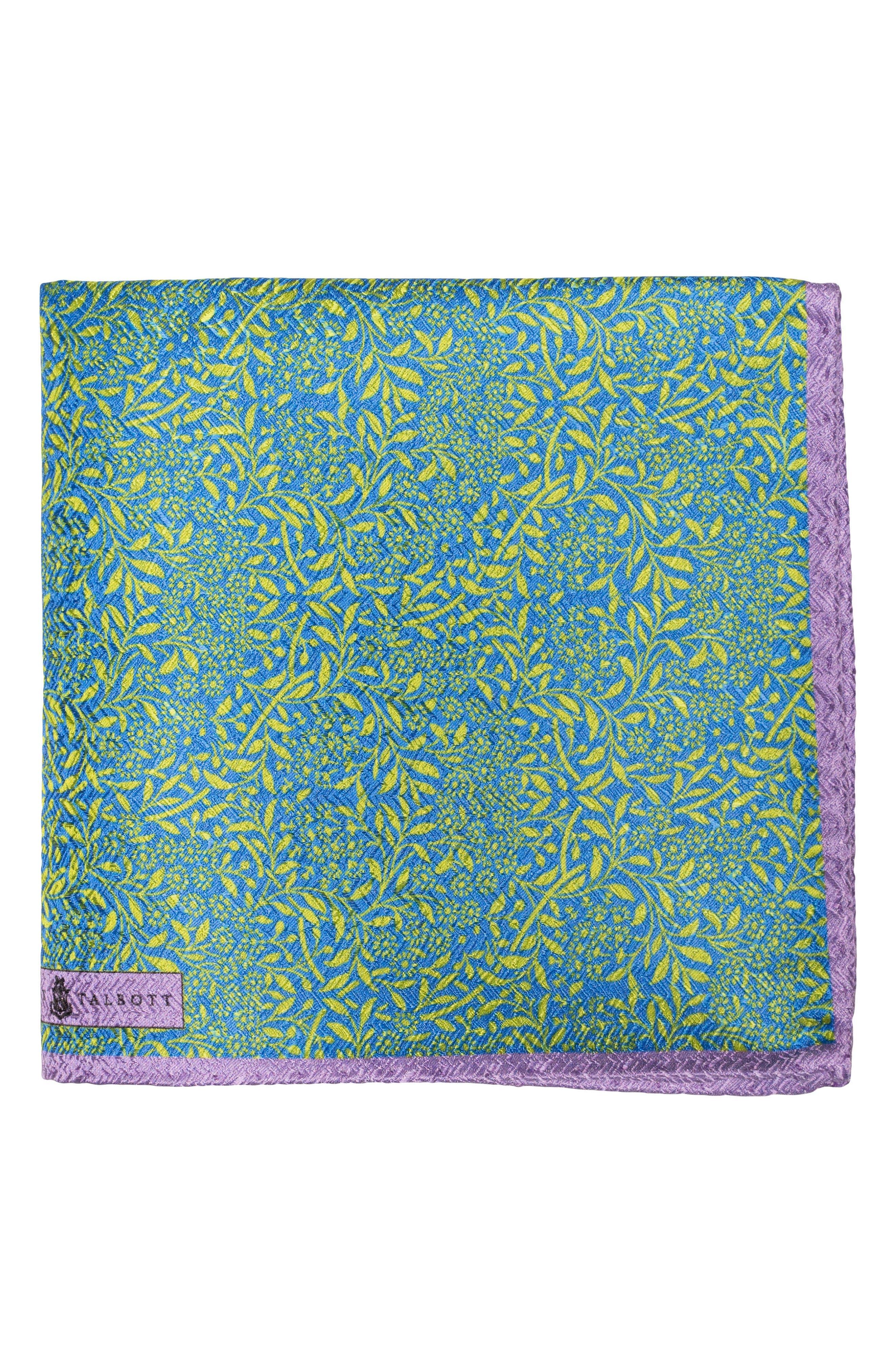Floral Silk Pocket Square,                             Main thumbnail 2, color,