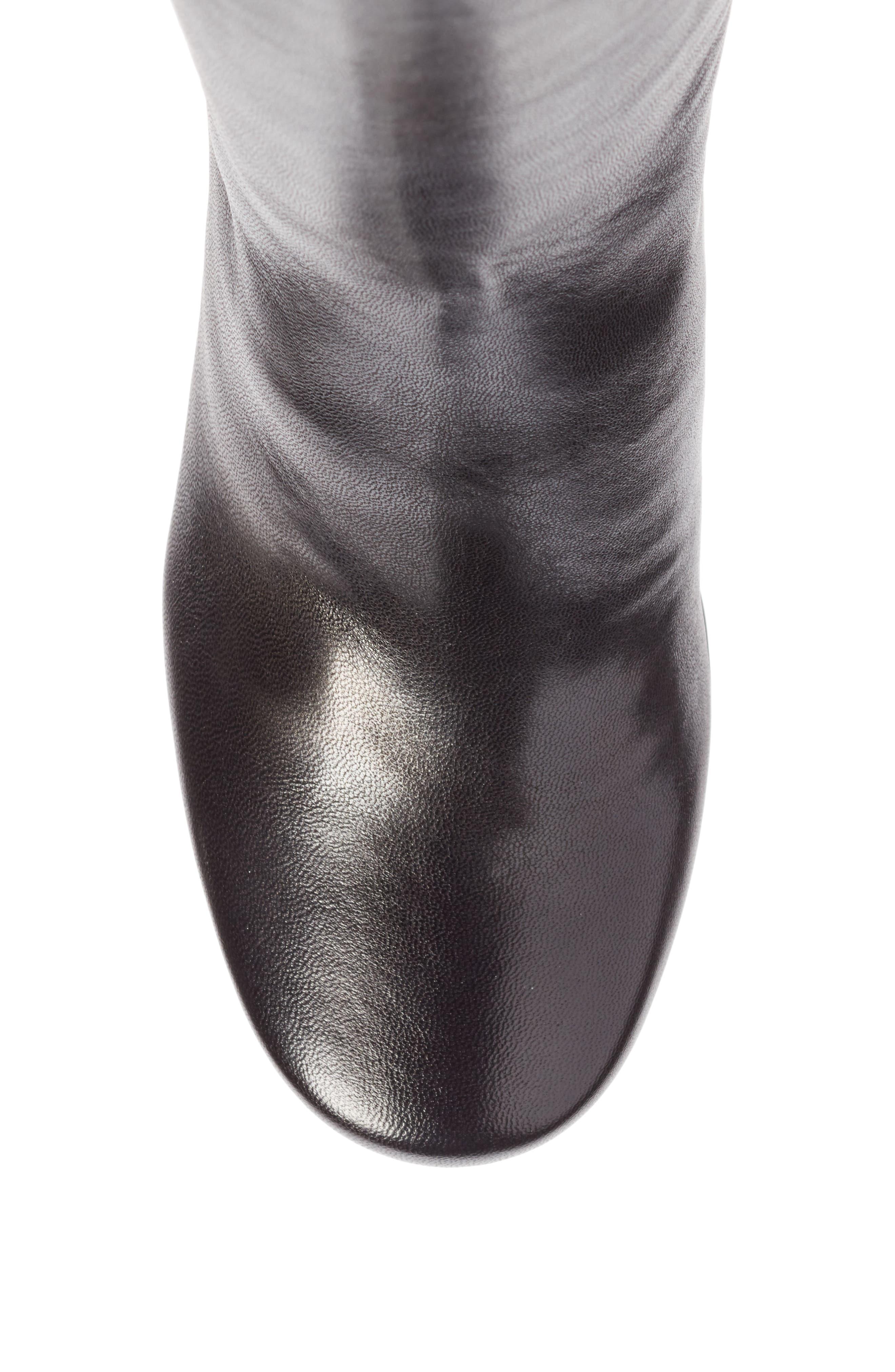 Block Heel Tall Boot,                             Alternate thumbnail 5, color,                             001