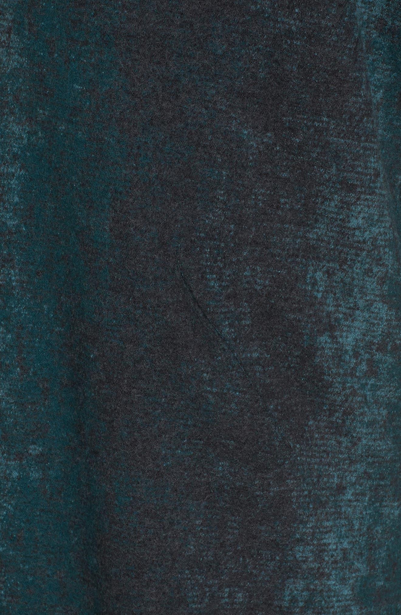 Long Wool Blend Kimono Jacket,                             Alternate thumbnail 7, color,                             PINE