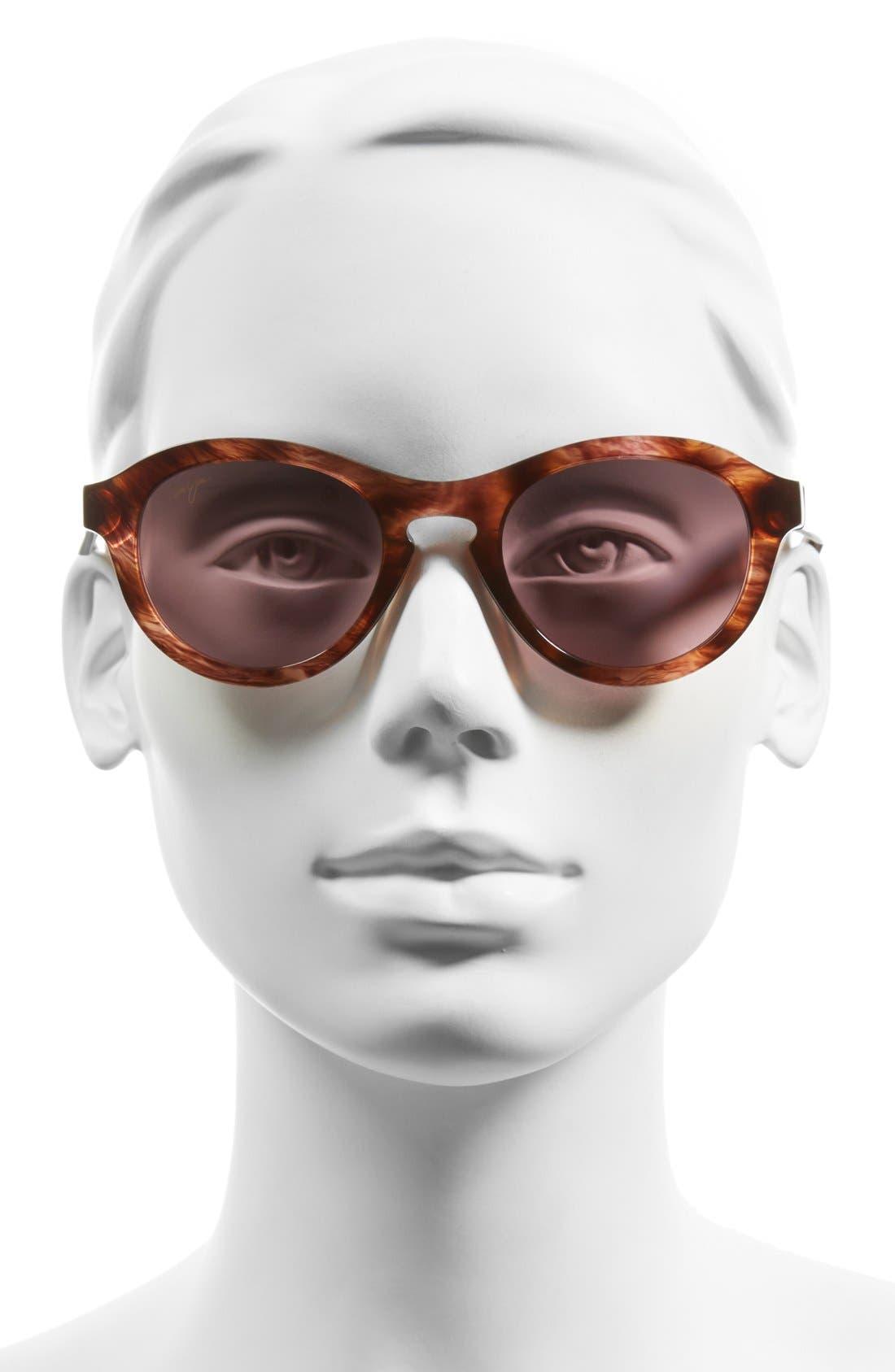 Leia 49mm PolarizedPlus2<sup>®</sup> Retro Sunglasses,                             Alternate thumbnail 2, color,                             201