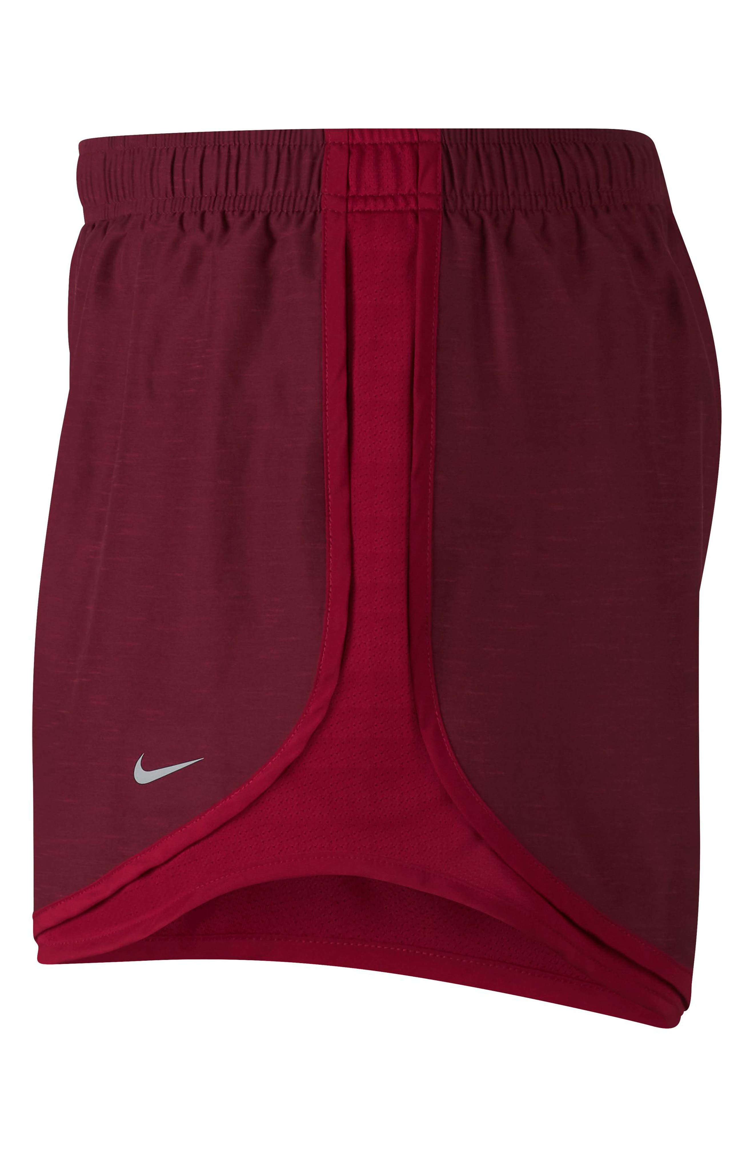 Dry Tempo Running Shorts,                             Alternate thumbnail 4, color,                             RED CRUSH/WOLF GREY