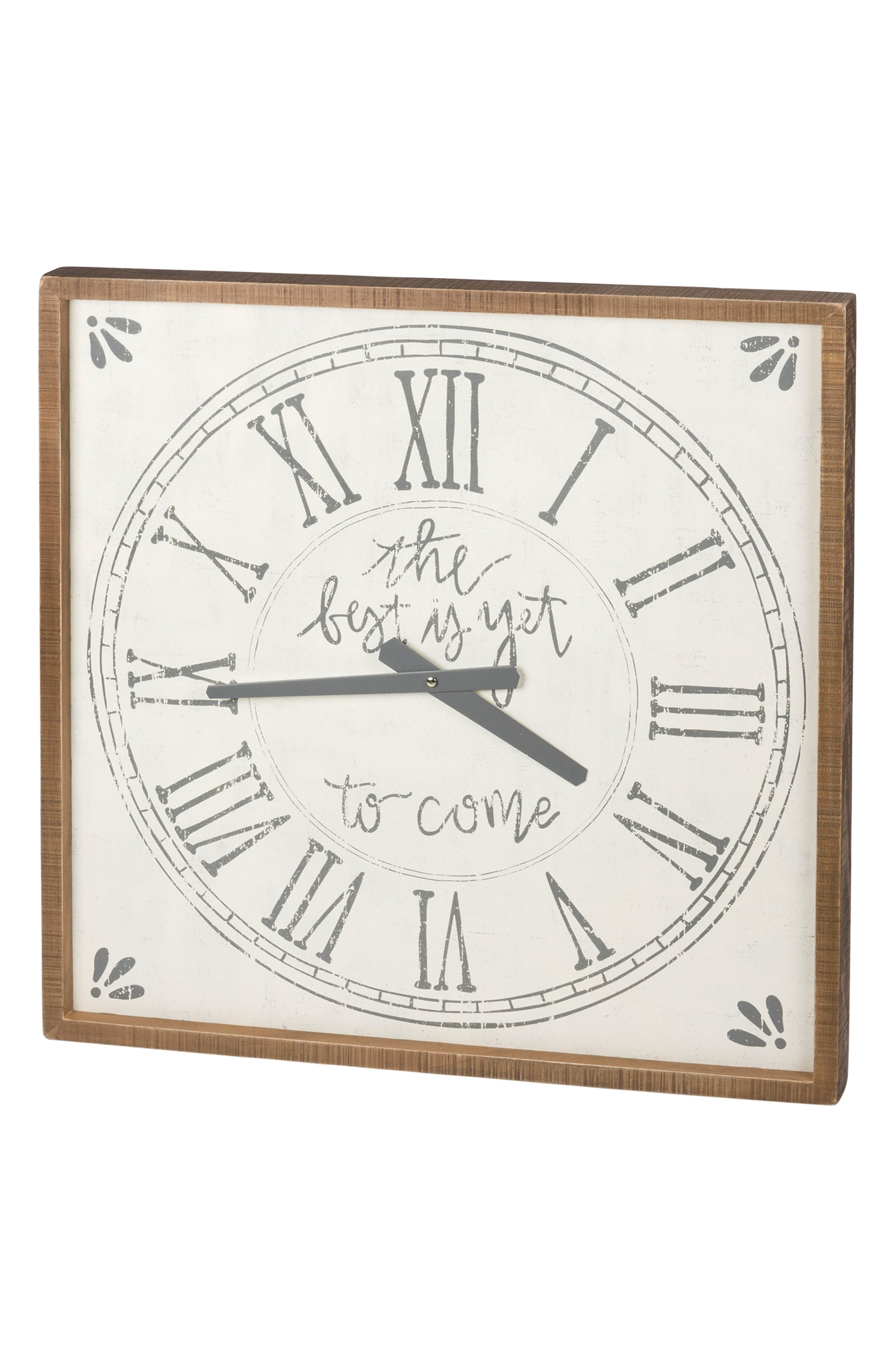 The Best Is Yet to Come Clock, Main, color, 100