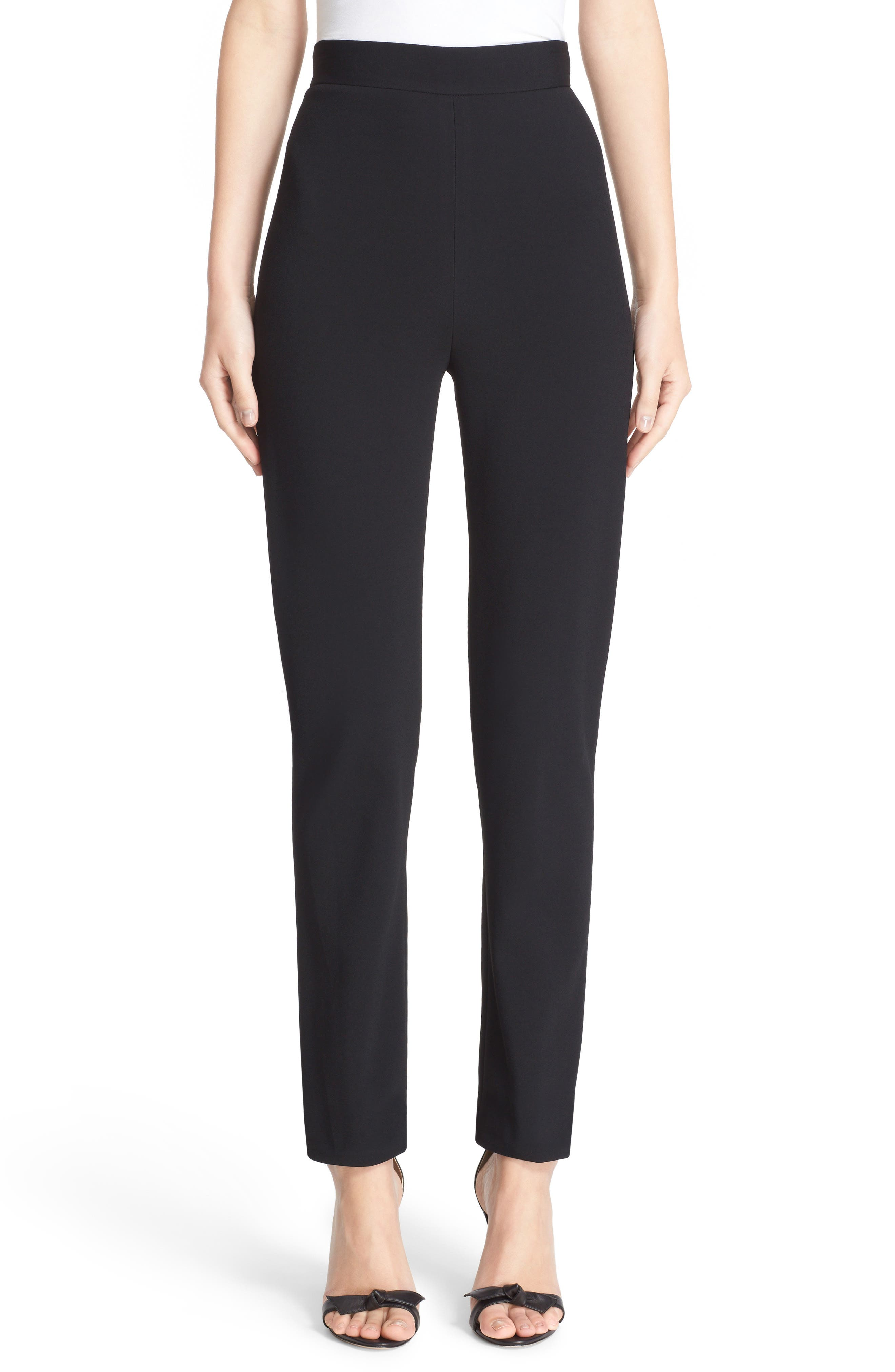 Skinny Cady Crepe Pants,                             Alternate thumbnail 2, color,