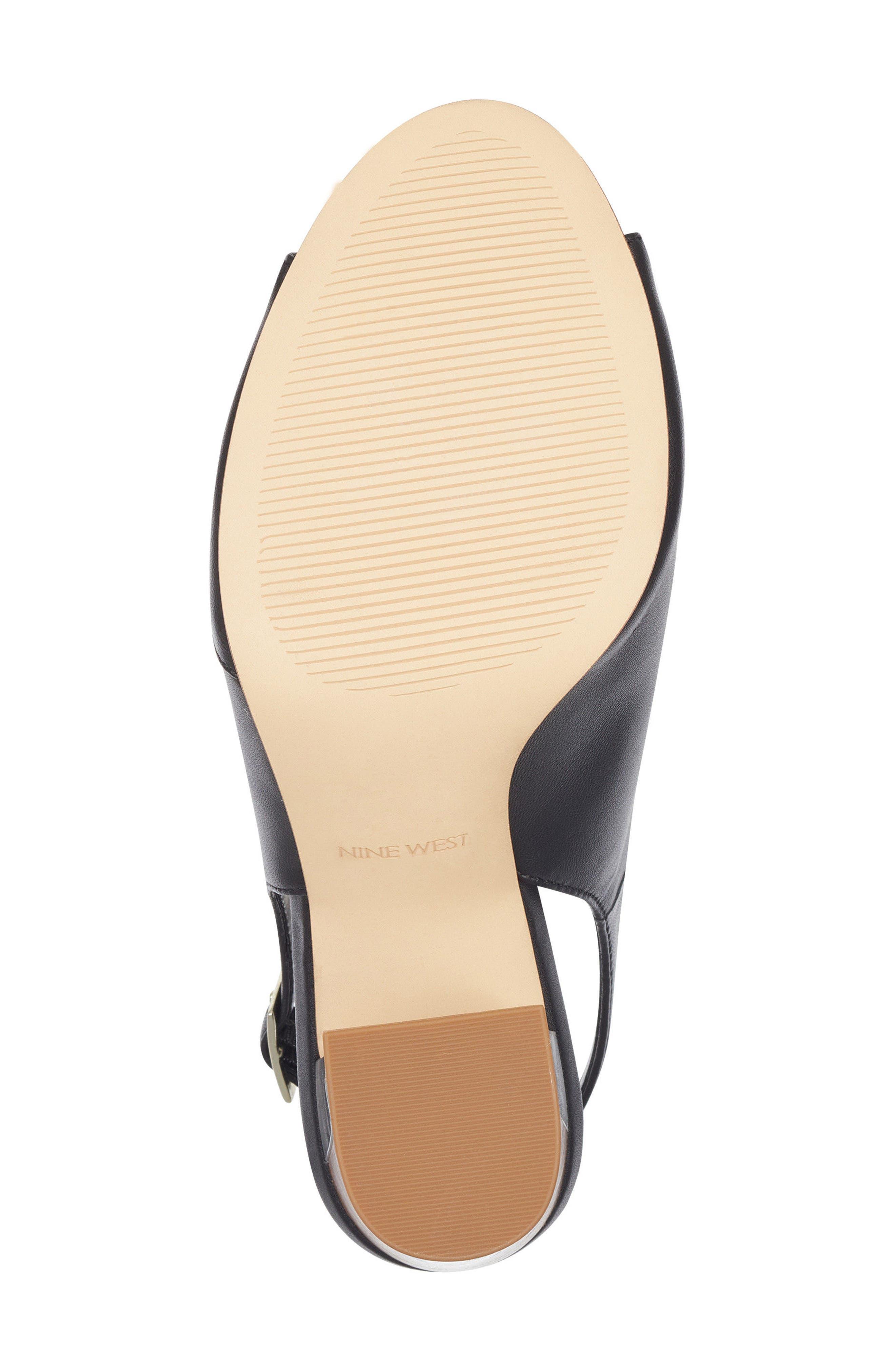 Morenzo Slingback Sandal,                             Alternate thumbnail 6, color,                             BLACK LEATHER