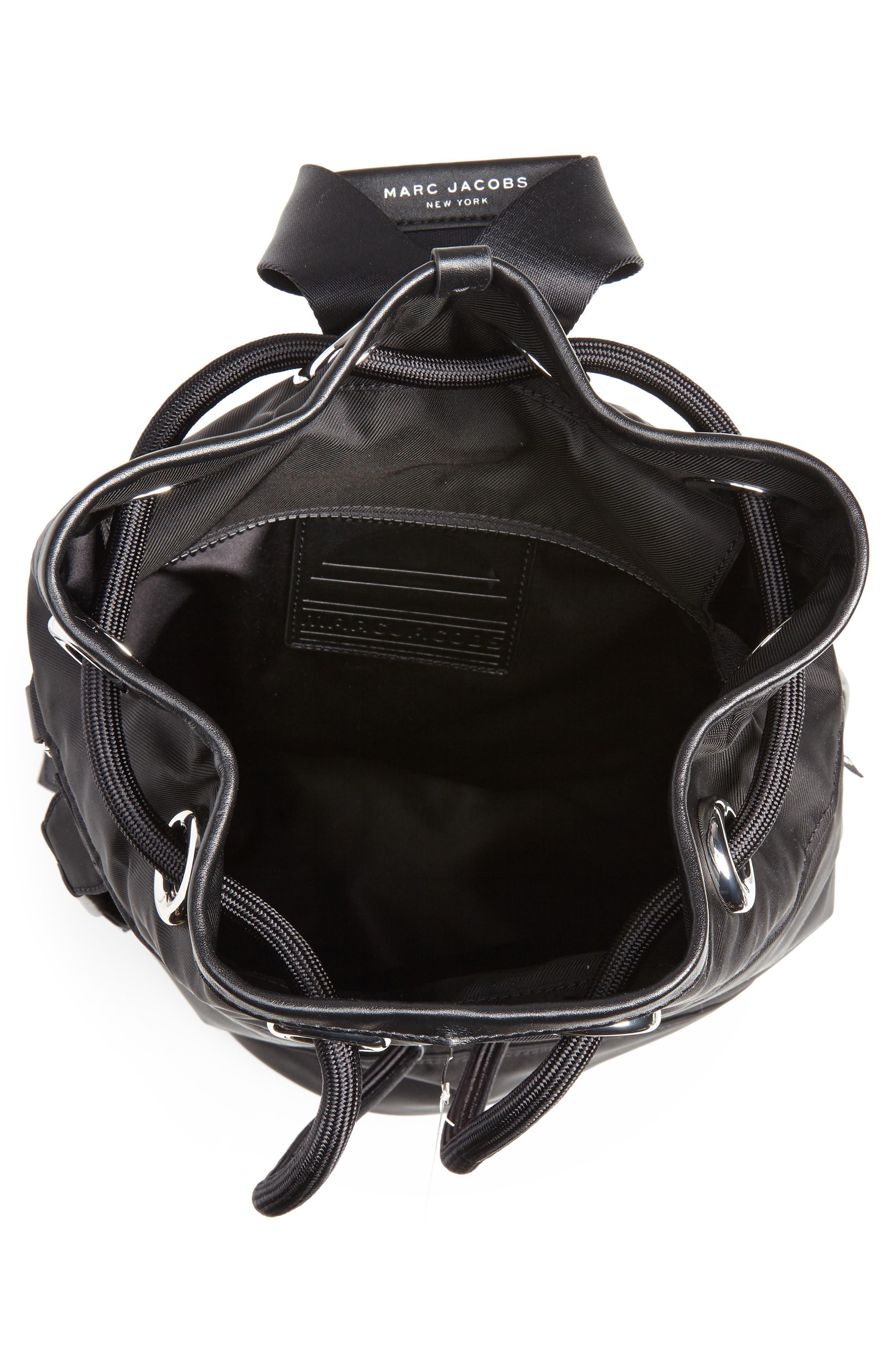 Nylon Sport Sling Bag,                             Alternate thumbnail 4, color,                             BLACK