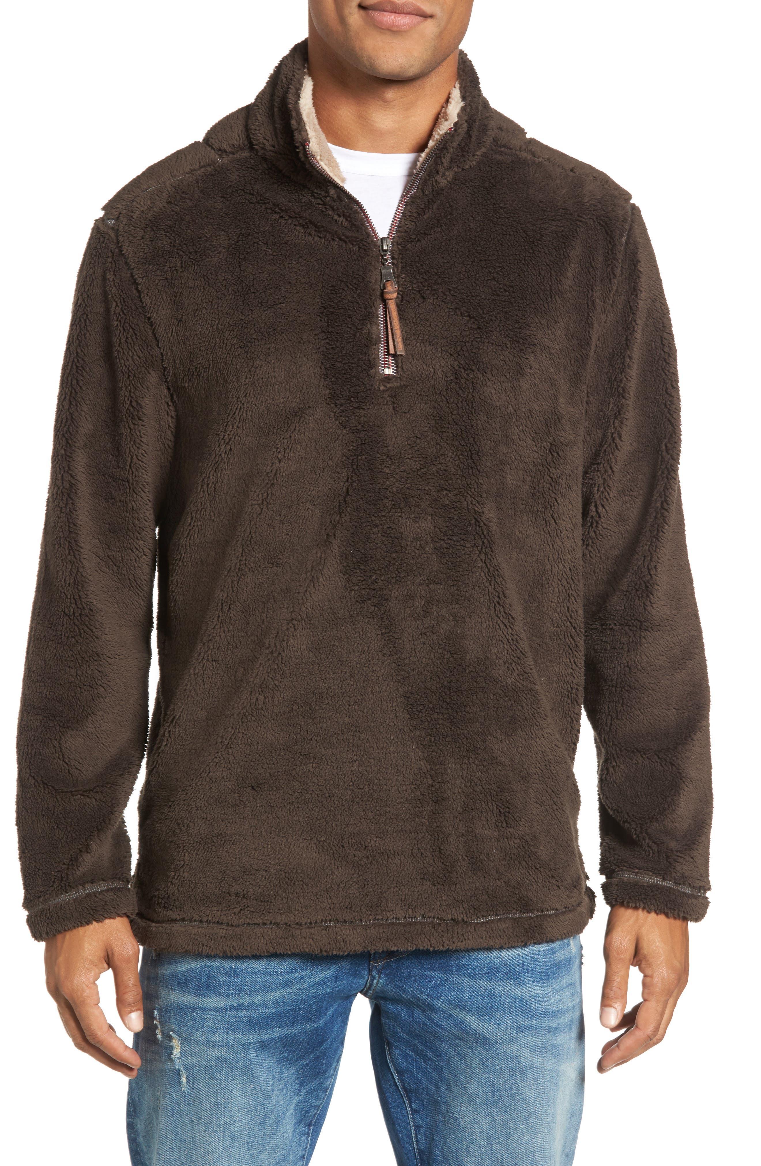 Pebble Pile Quarter Zip Pullover,                             Main thumbnail 1, color,                             VINTAGE BR