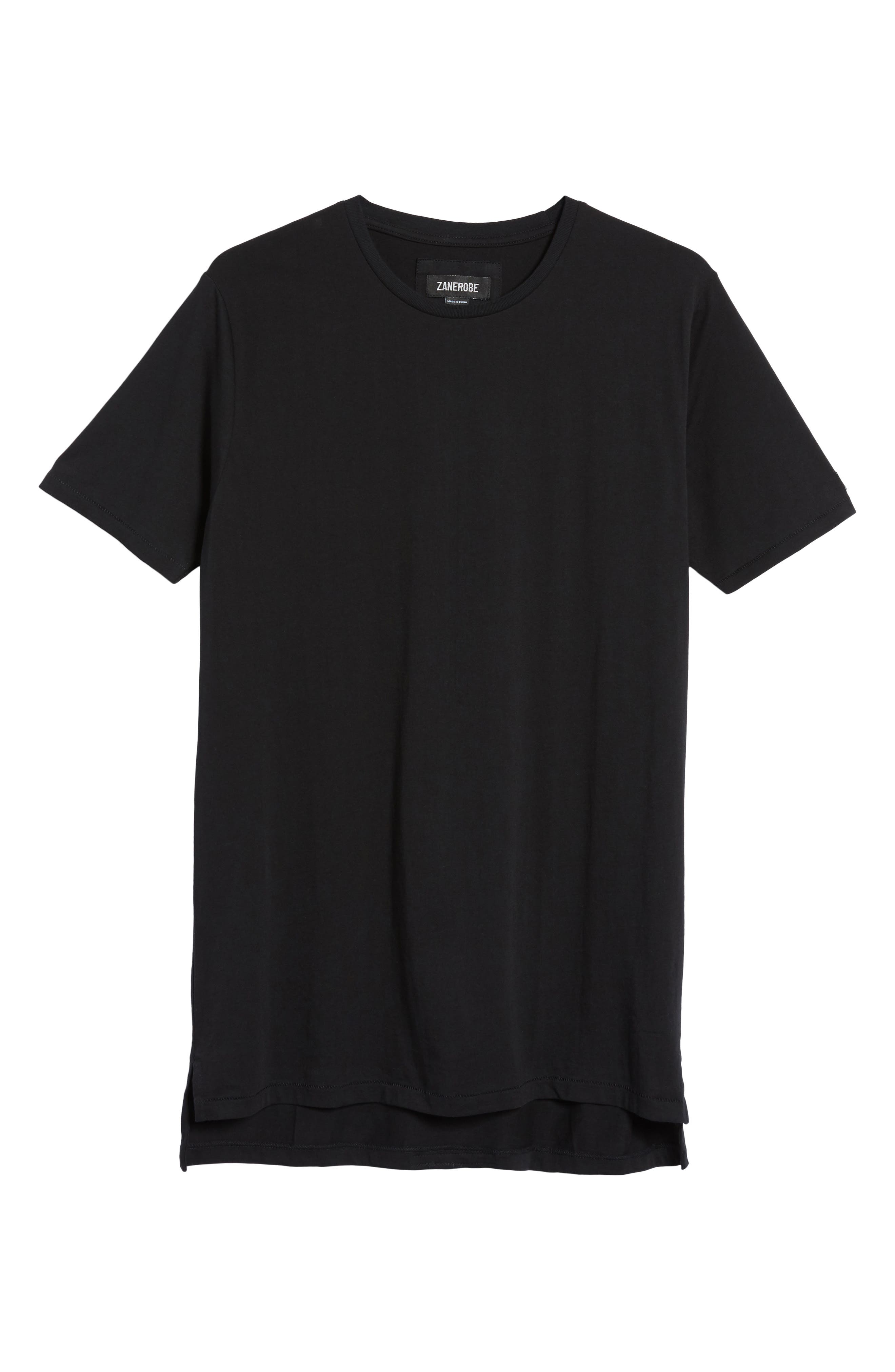 'Flintlock' Longline Crewneck T-Shirt,                         Main,                         color, BLACK