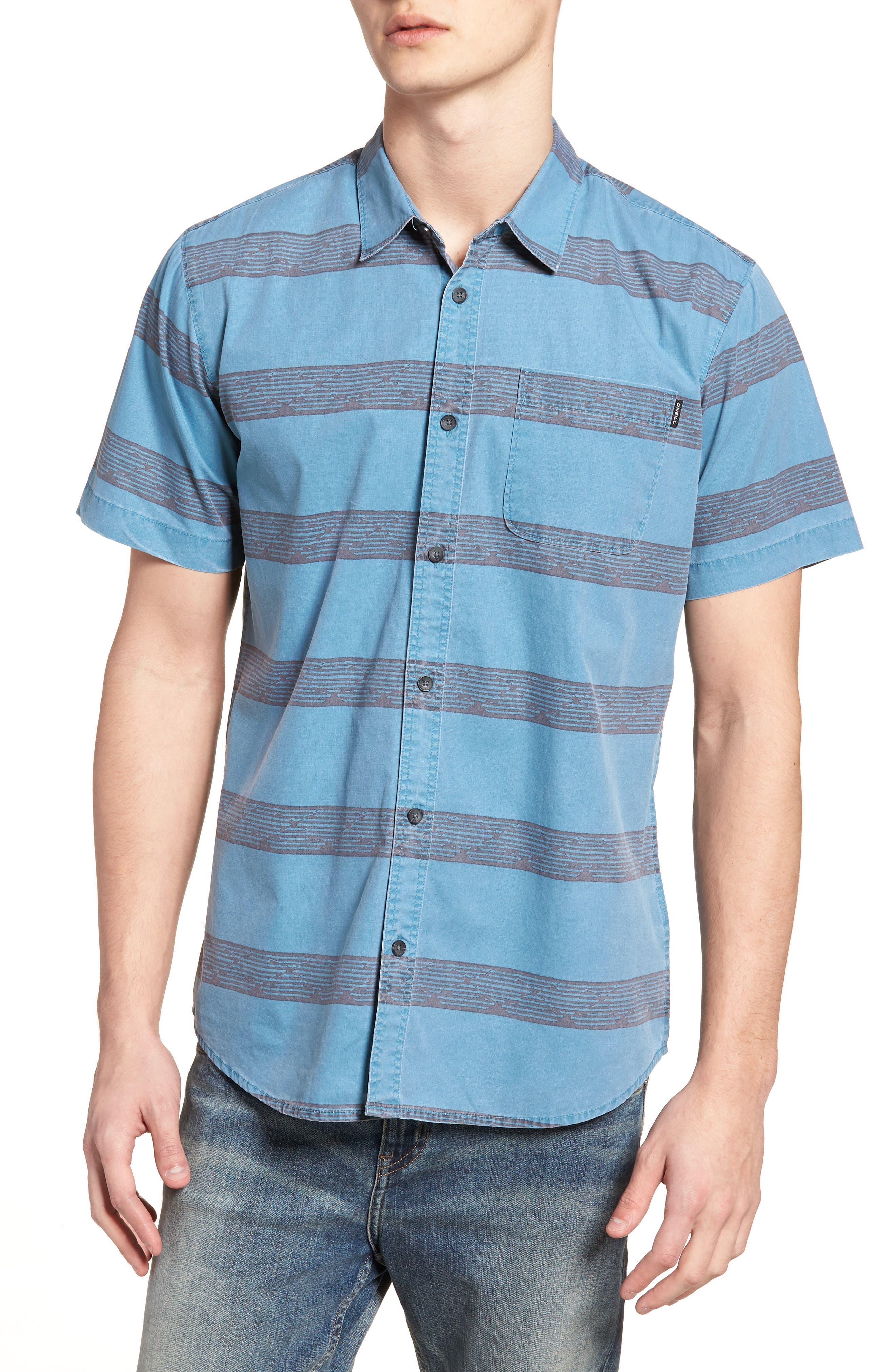 Wagner Woven Shirt,                         Main,                         color, DEEP TEAL