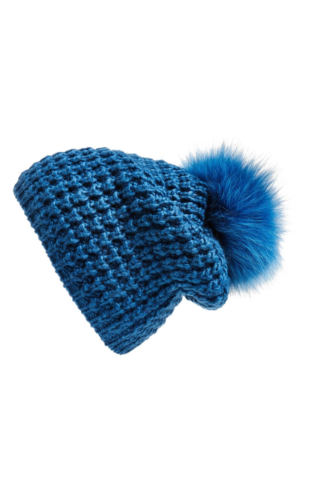 Genuine Fox Pompom Hat,                             Main thumbnail 11, color,