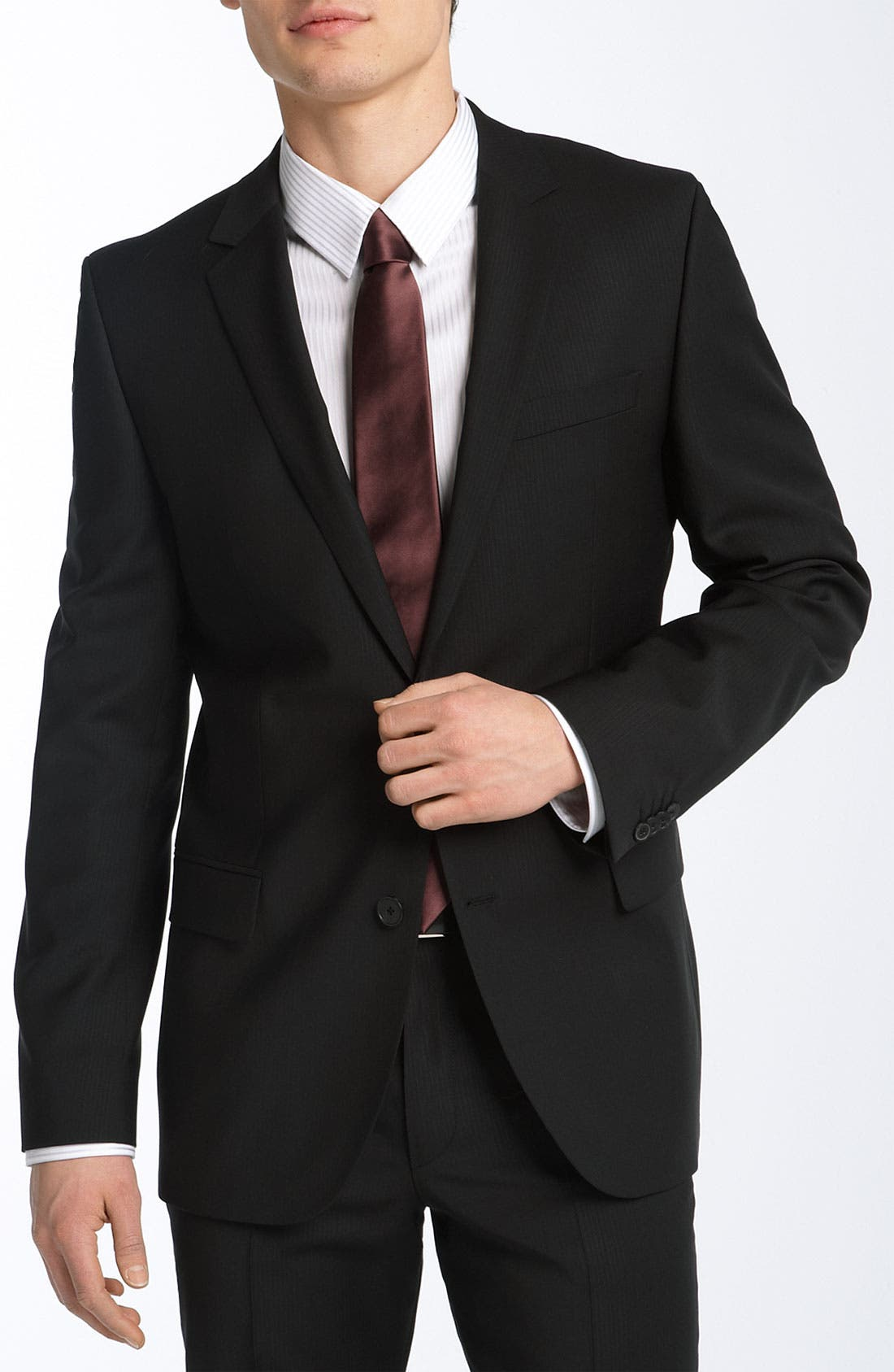 HUGO 'Astro/Hill' Extra Trim Fit Wool Suit,                             Main thumbnail 1, color,                             001