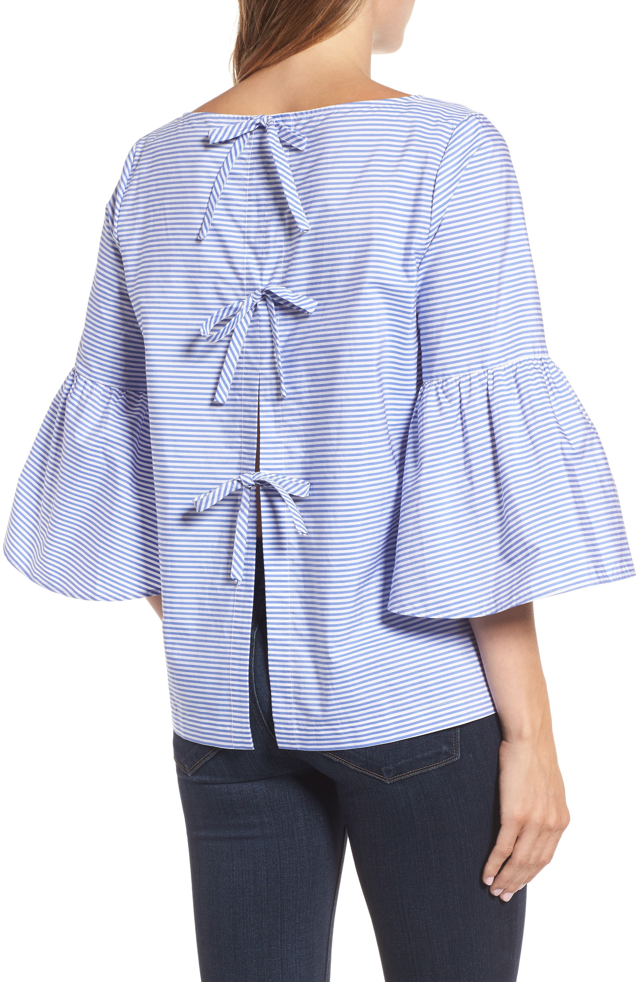Bell Sleeve Bow Back Top,                             Alternate thumbnail 2, color,                             420