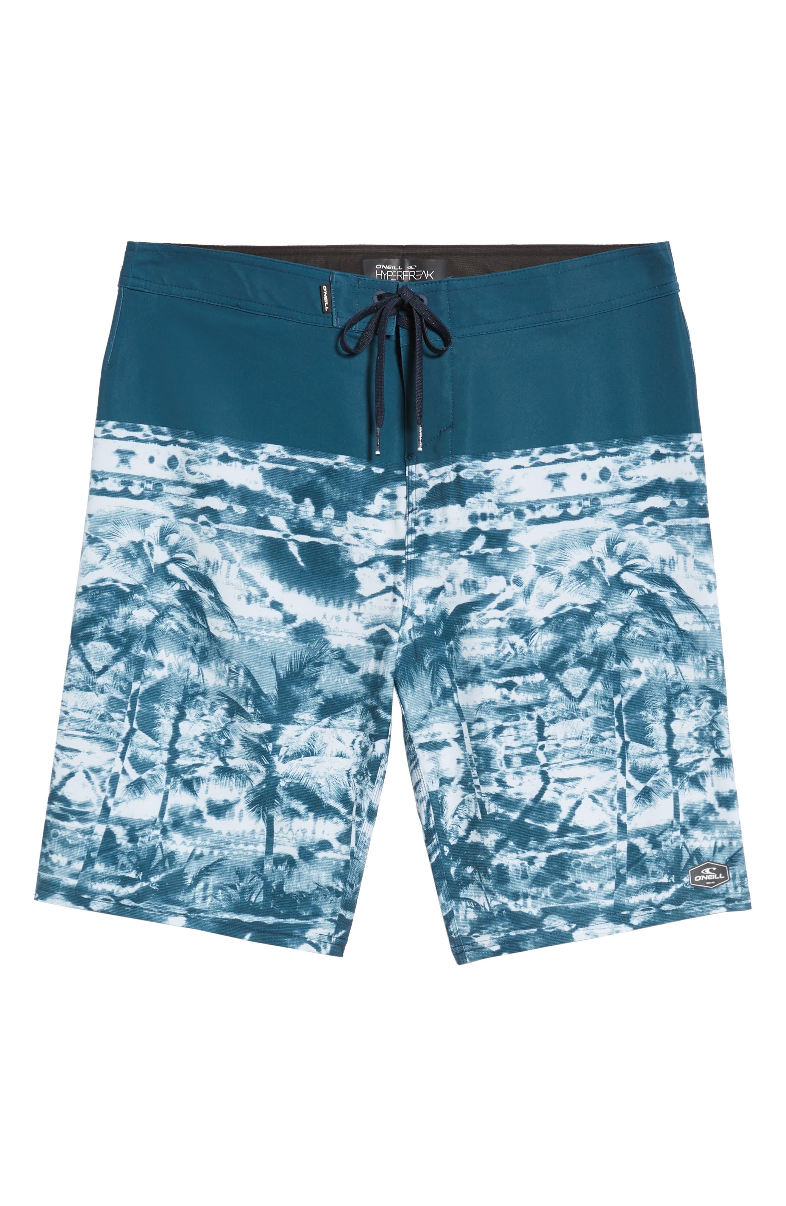 Hyperfreak Vietpalm Board Shorts,                             Alternate thumbnail 6, color,                             DARK BLUE
