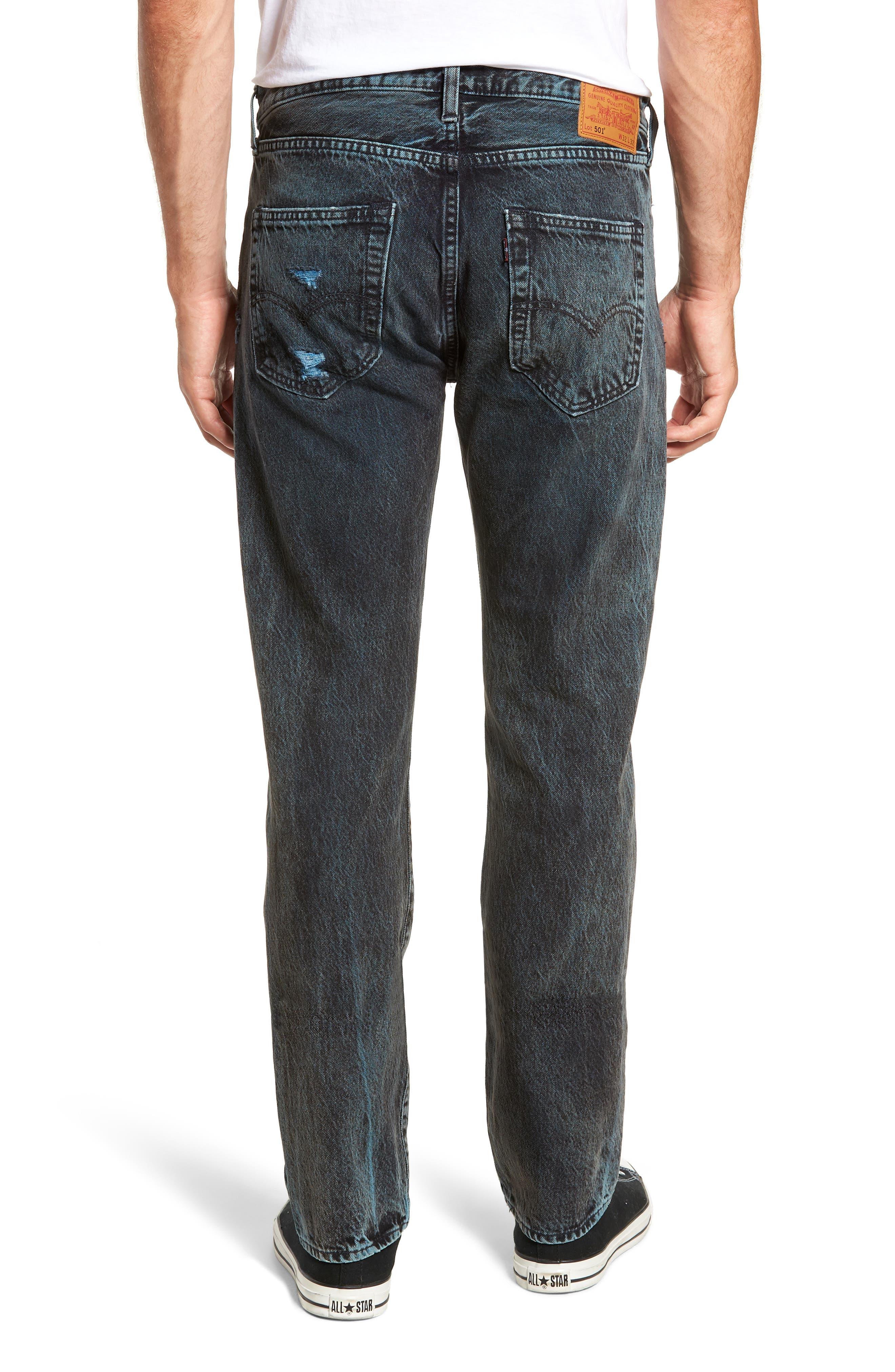 501<sup>®</sup> Straight Leg Jeans,                             Alternate thumbnail 2, color,                             SOULSIDE WARP STRETCH
