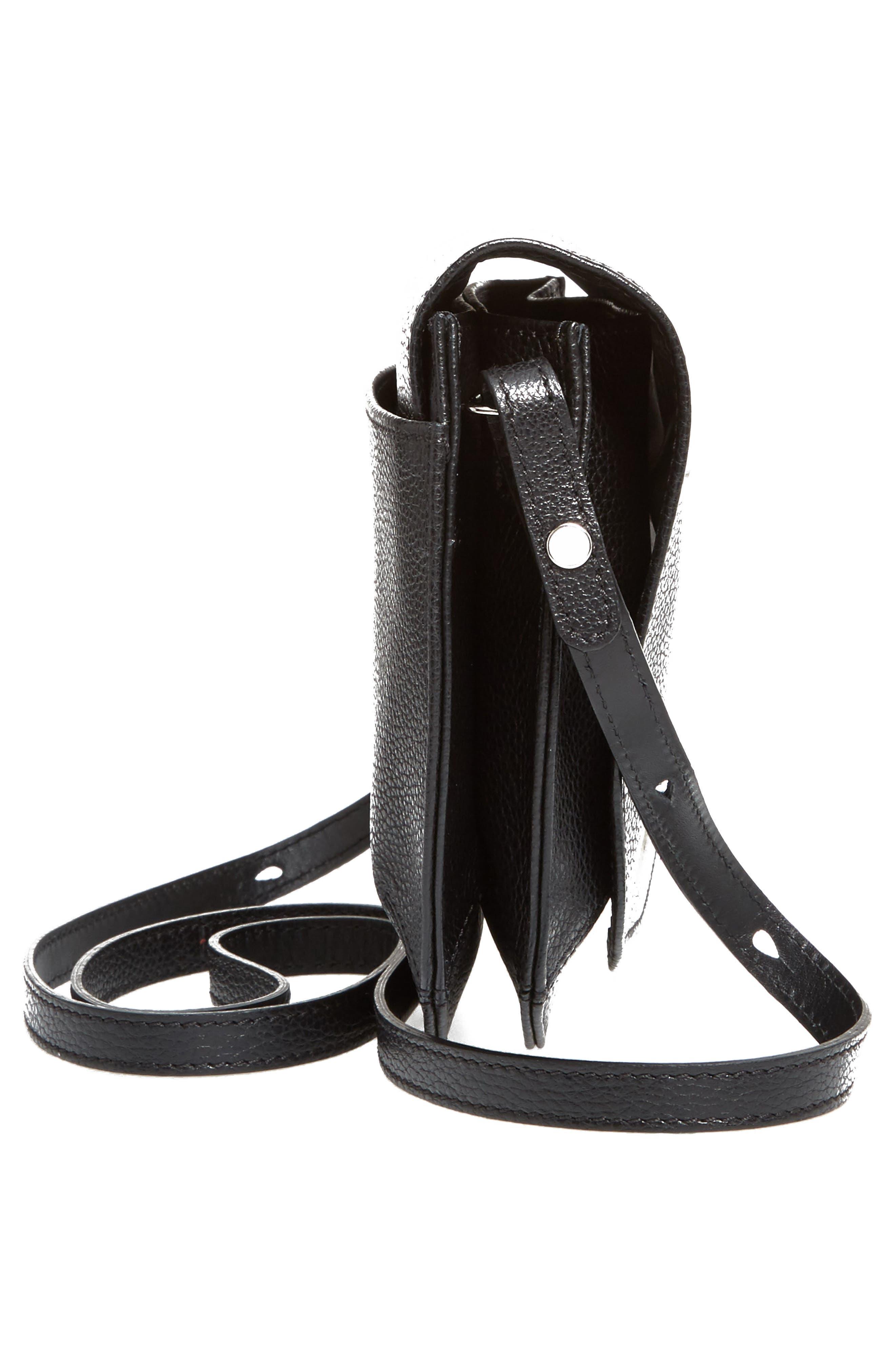 Small Le Foulonne Leather Crossbody Bag,                             Alternate thumbnail 5, color,                             BLACK