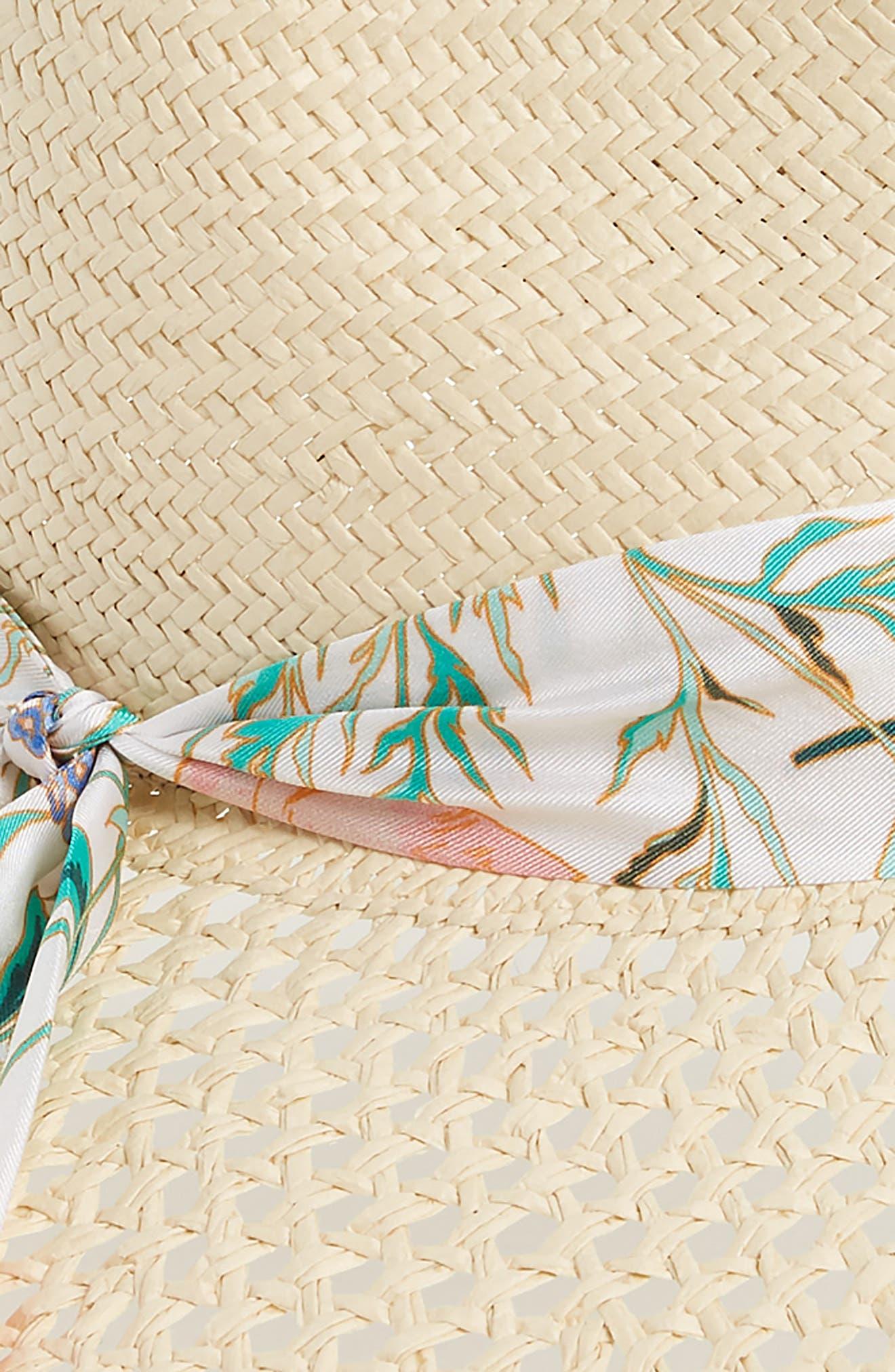 bloom straw fedora,                             Alternate thumbnail 2, color,                             900