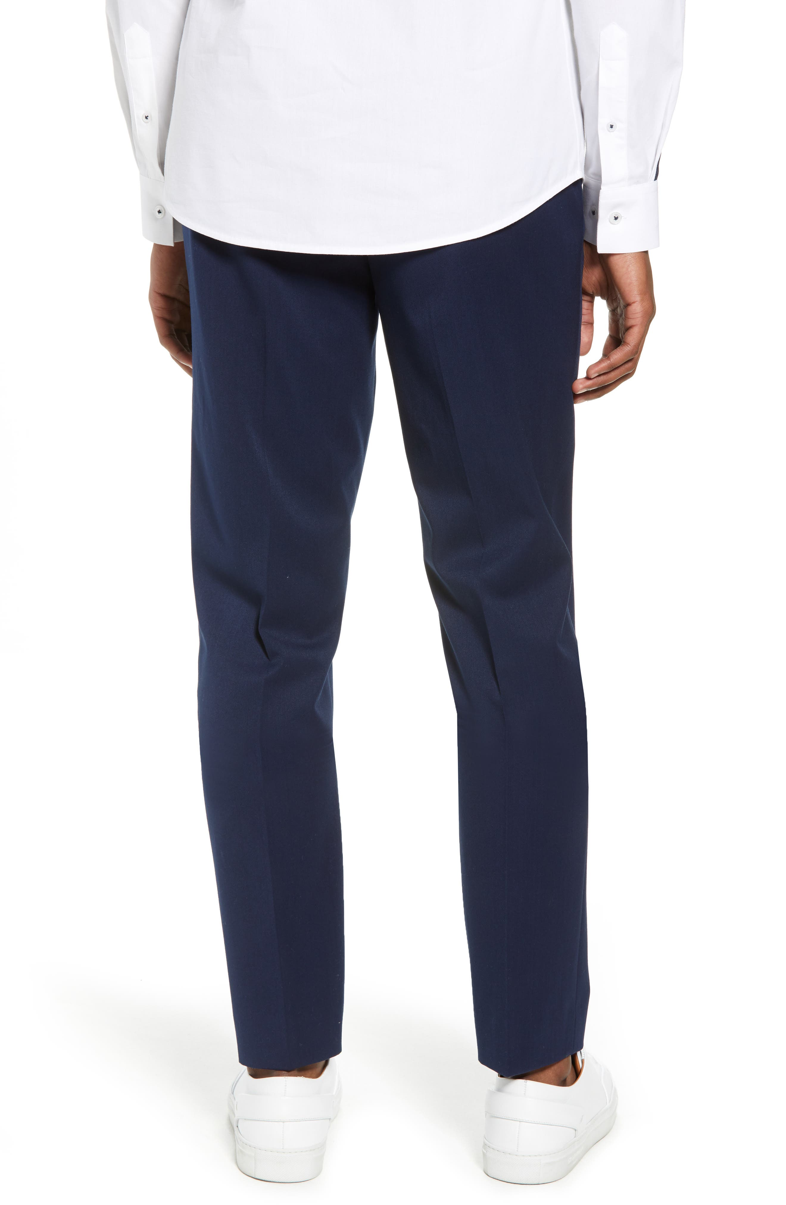 Muscle Fit Trousers,                             Alternate thumbnail 2, color,                             NAVY BLUE