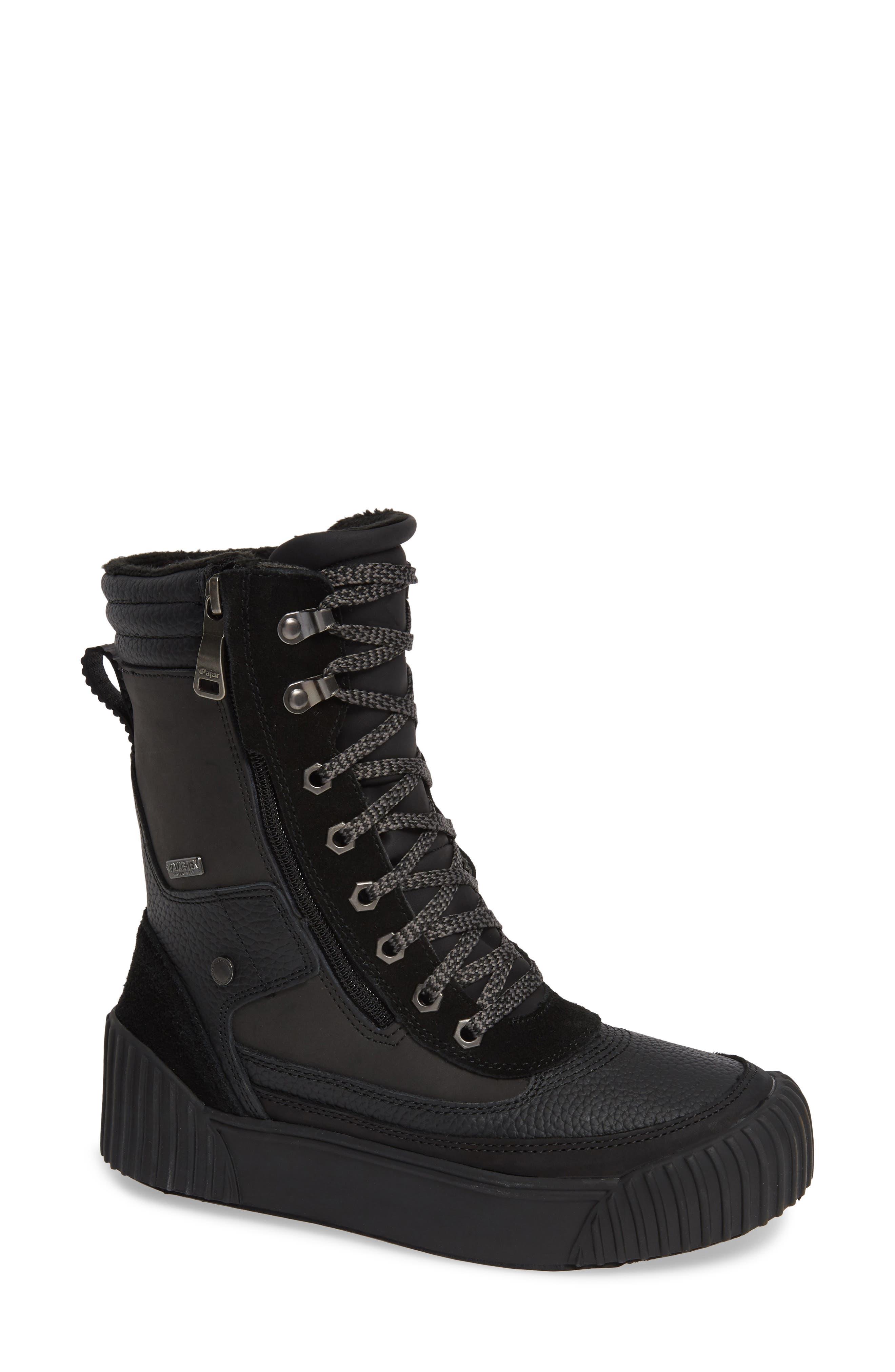 PAJAR Roya Waterproof Sneaker Boot, Main, color, BLACK