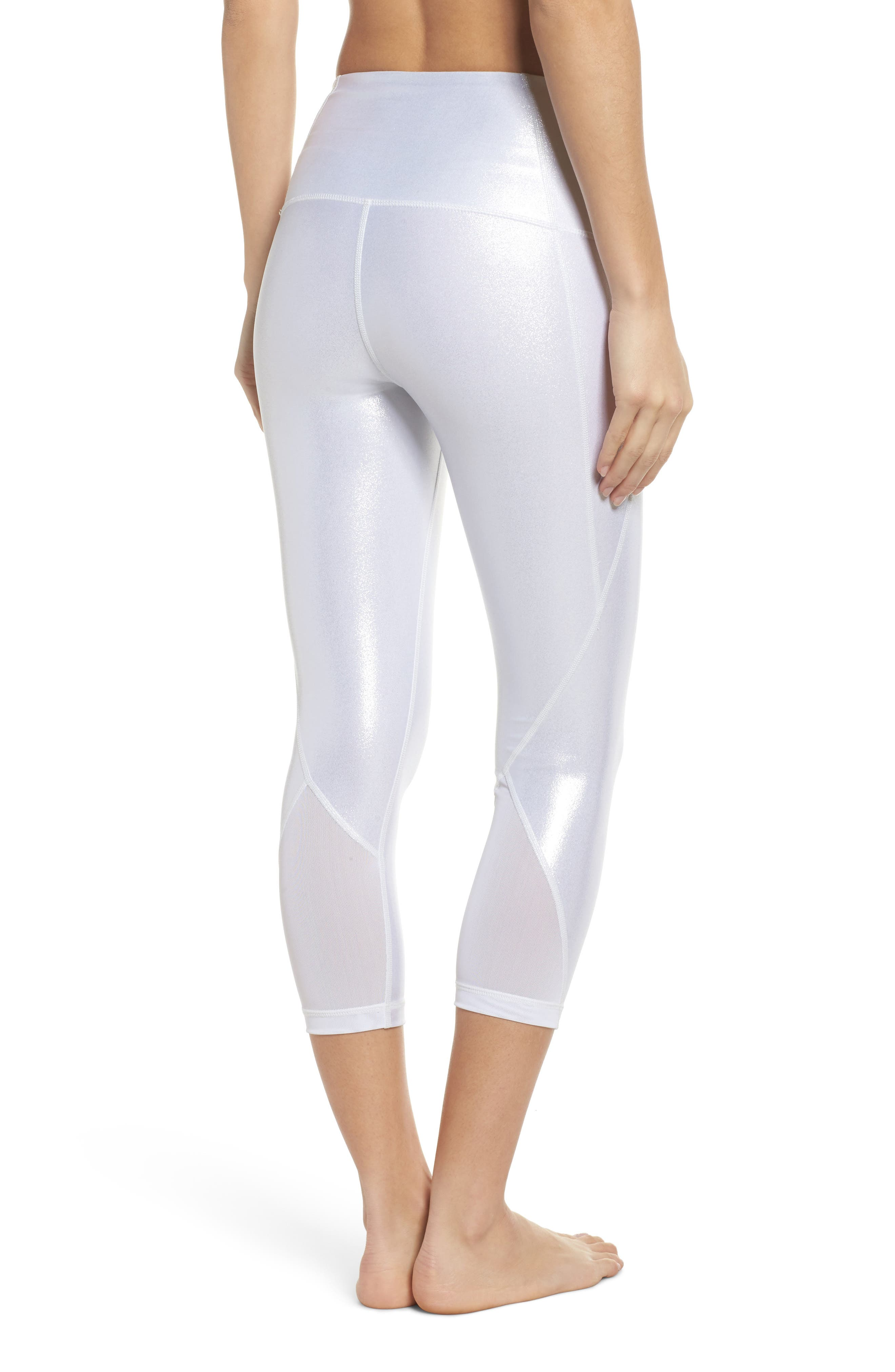 Hatha Glitter High Waist Crop Leggings,                             Alternate thumbnail 2, color,                             040