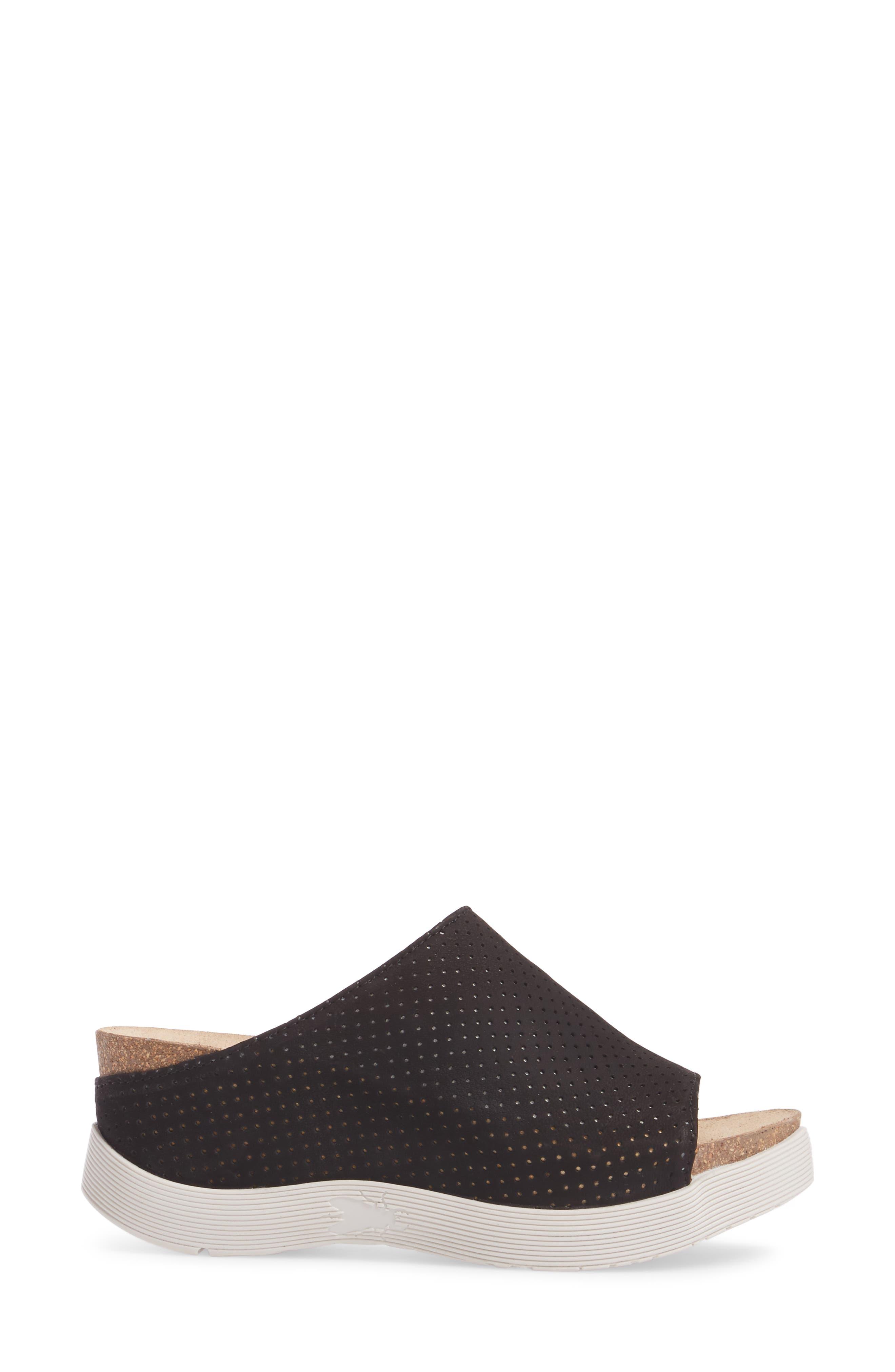 Whin Platform Sandal,                             Alternate thumbnail 3, color,                             BLACK CUPIDO LEATHER