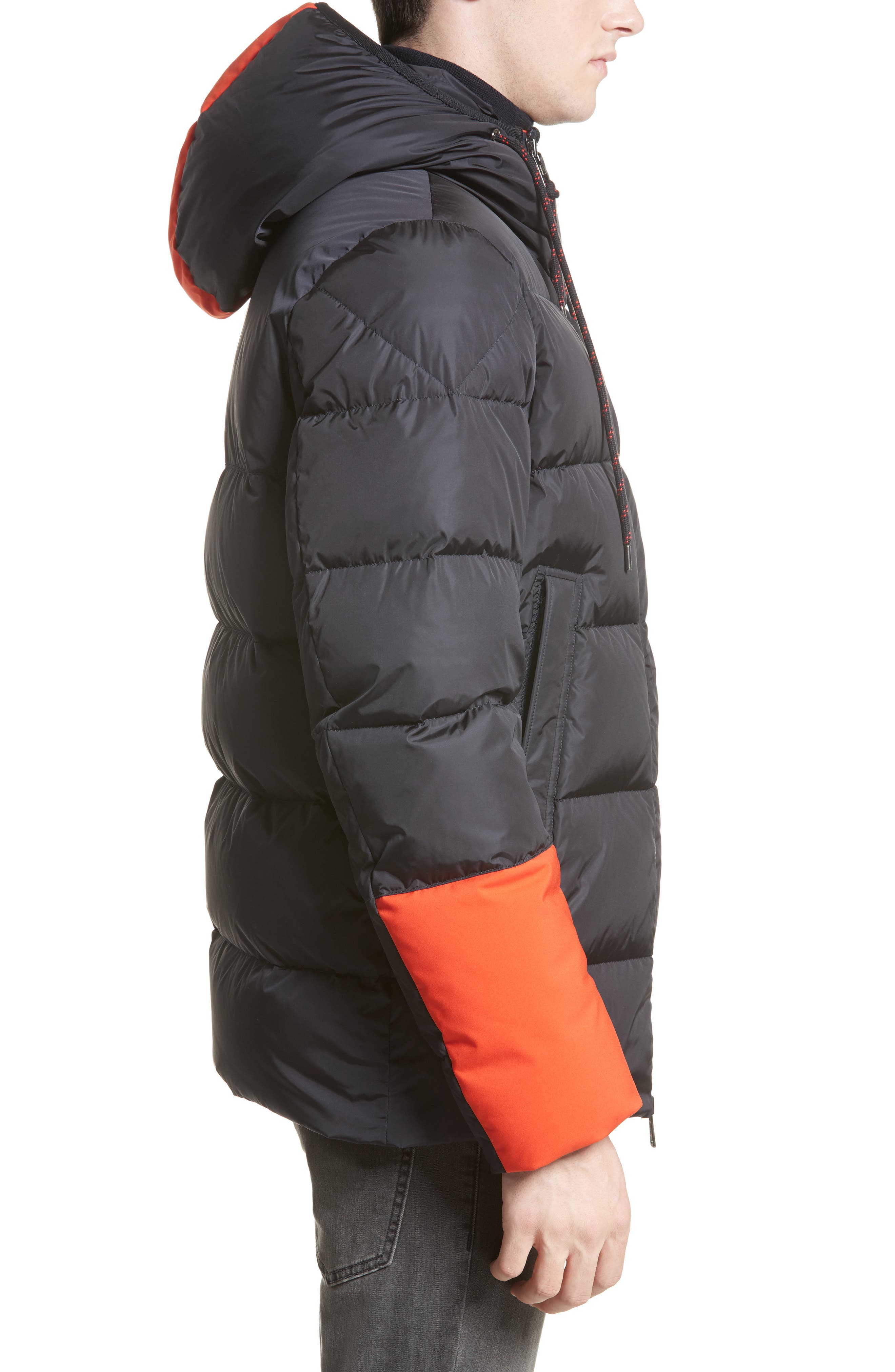 Drake Color Pop Hooded Down Coat,                             Alternate thumbnail 3, color,