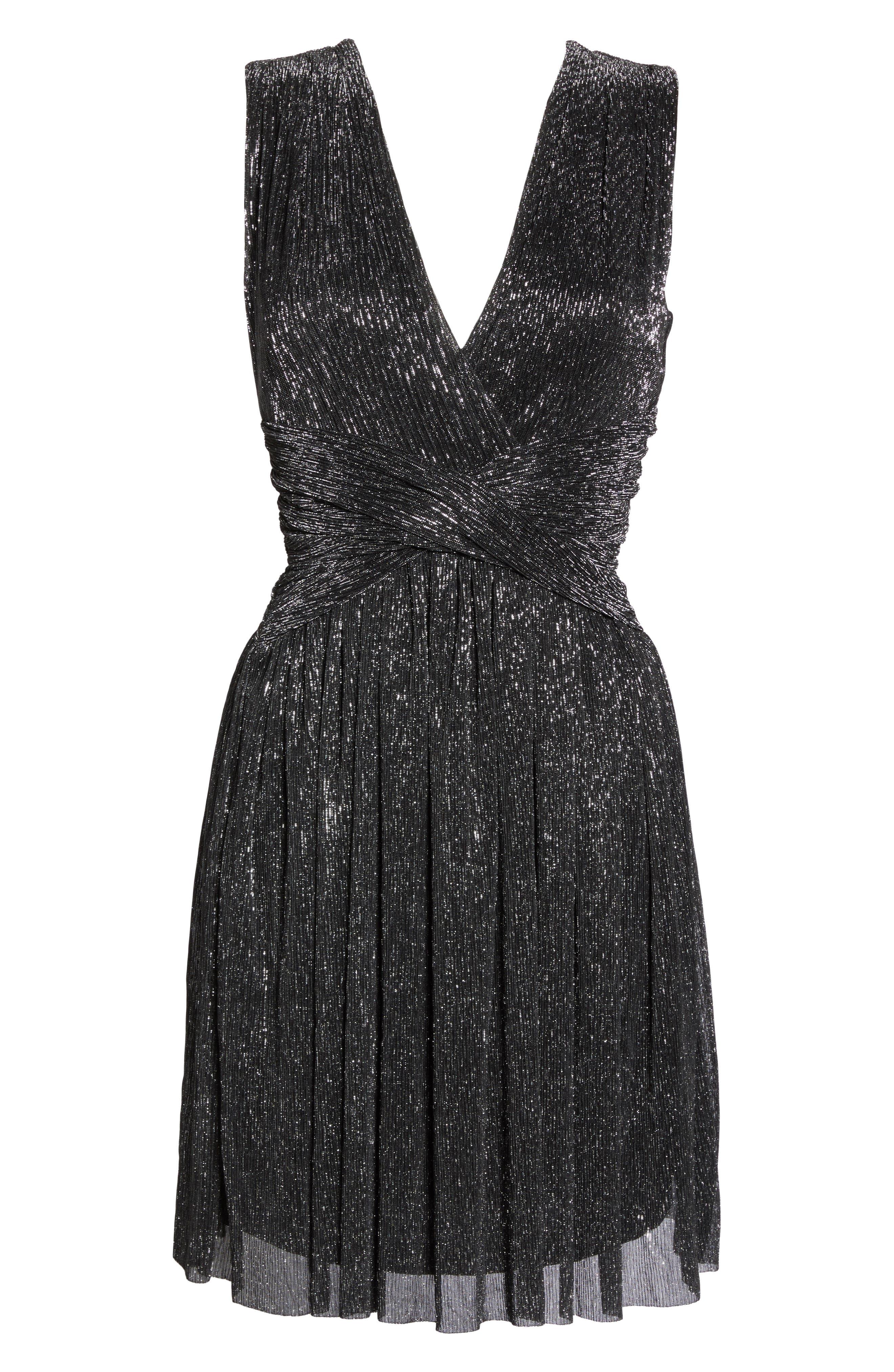 Marcelle Fit & Flare Dress,                             Alternate thumbnail 6, color,                             001