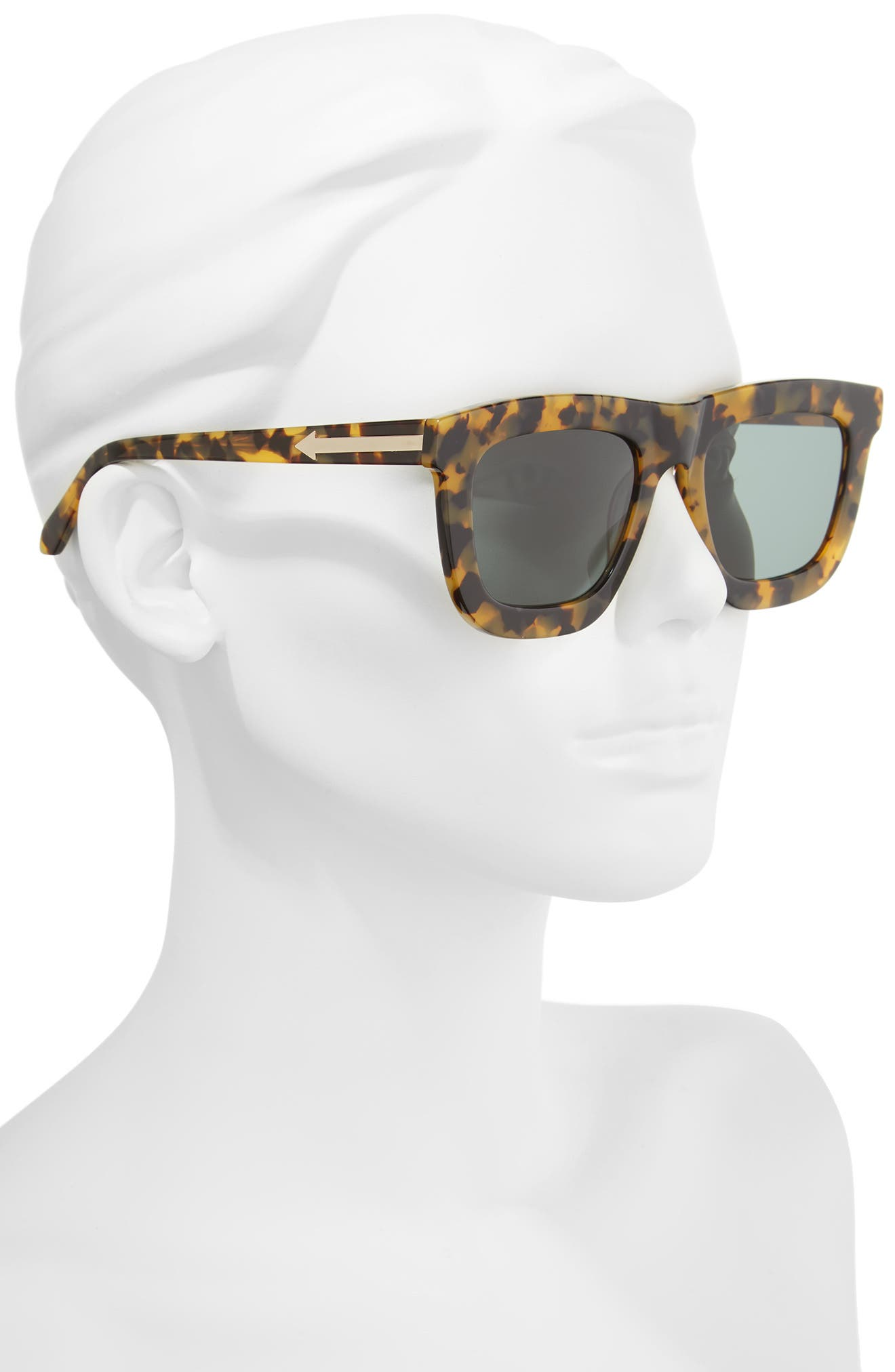 KAREN WALKER,                             Deep Worship 55mm Sunglasses,                             Alternate thumbnail 2, color,                             200