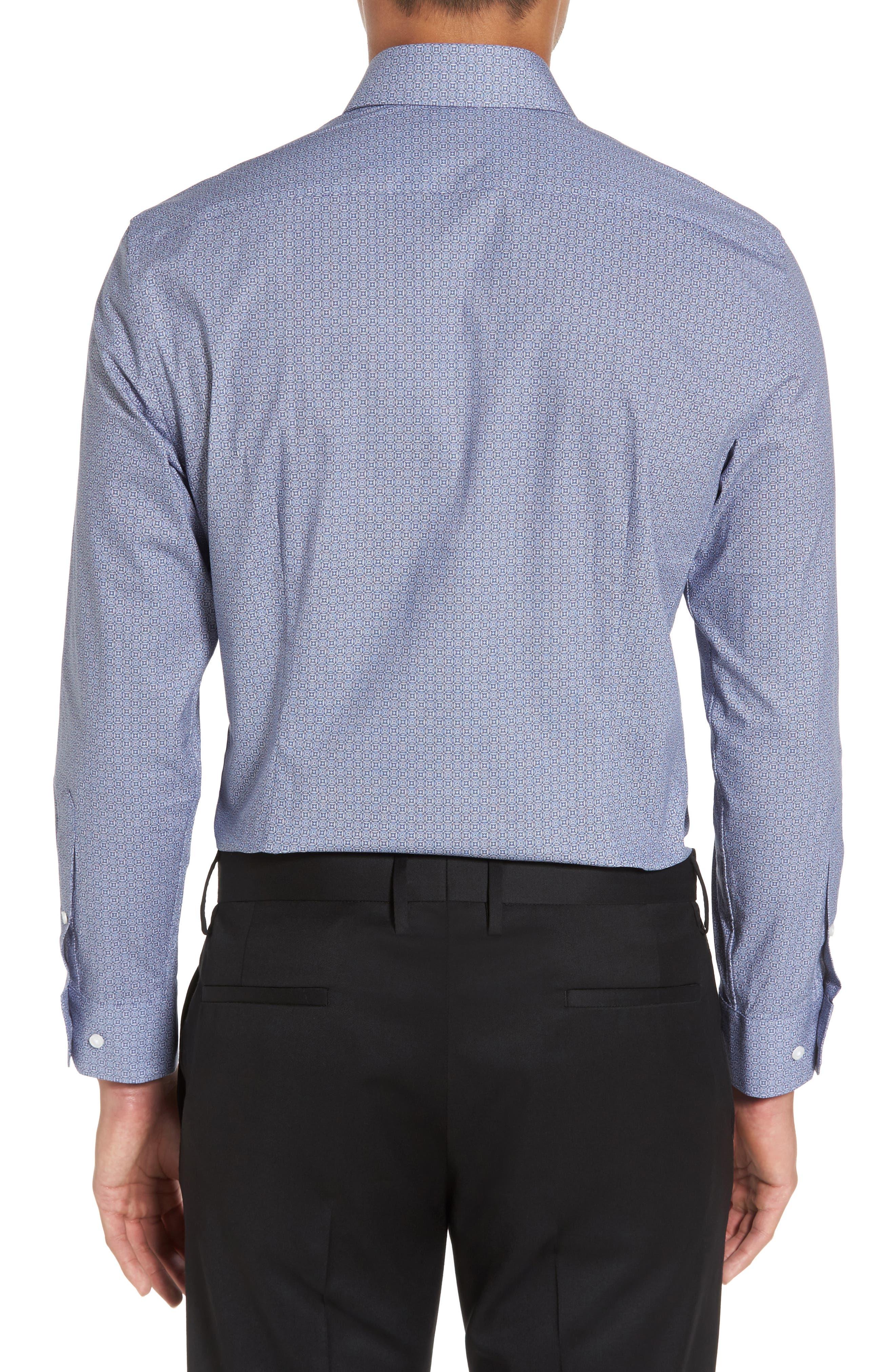 Extra Trim Fit Print Stretch Dress Shirt,                             Alternate thumbnail 2, color,                             410