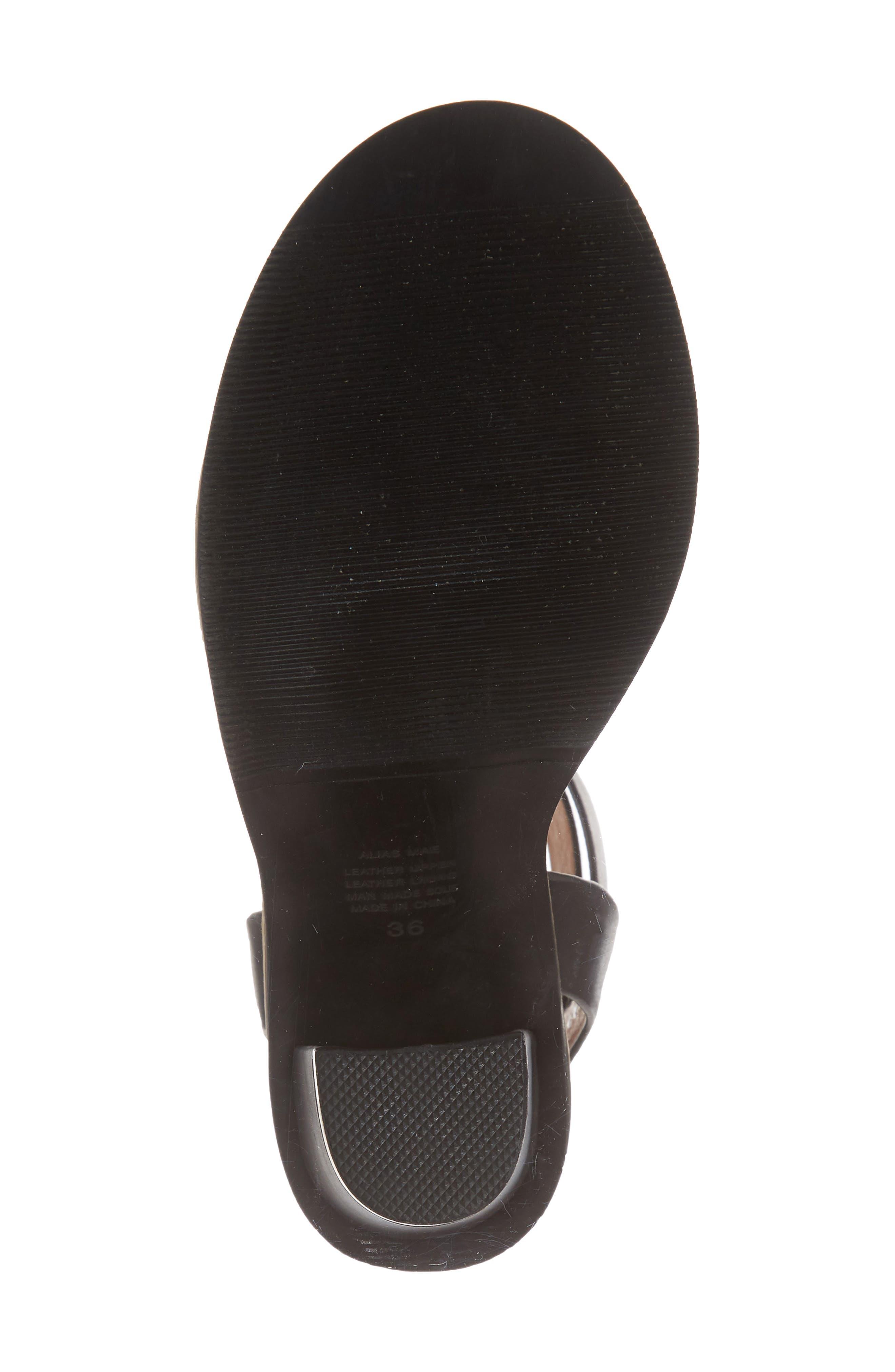 Calito Ankle Strap Sandal,                             Alternate thumbnail 6, color,                             001