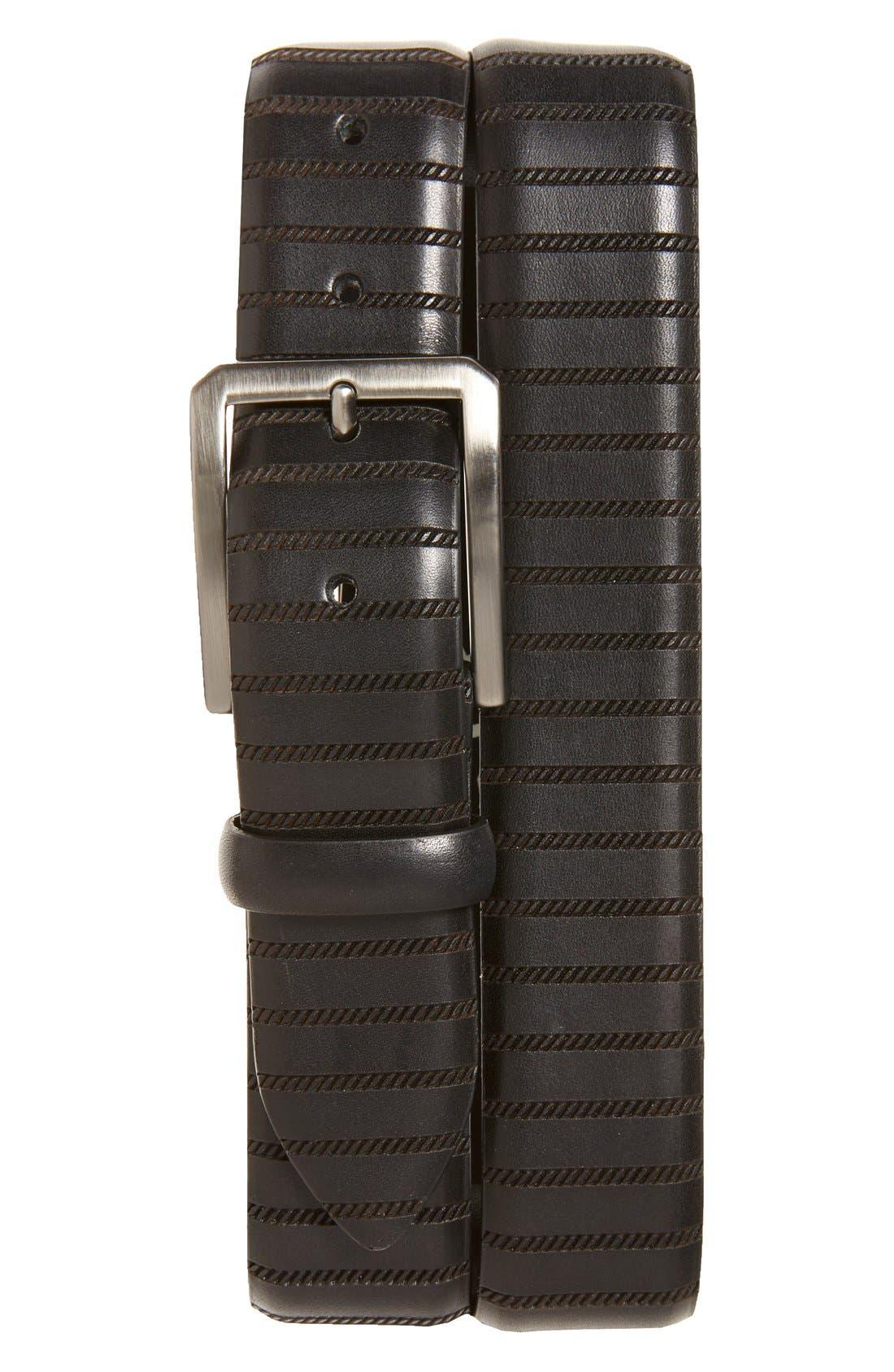 'Dara' Leather Belt,                             Main thumbnail 1, color,                             001