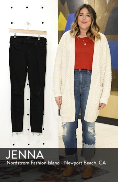 'The Looker' Frayed Ankle Skinny Jeans, sales video thumbnail