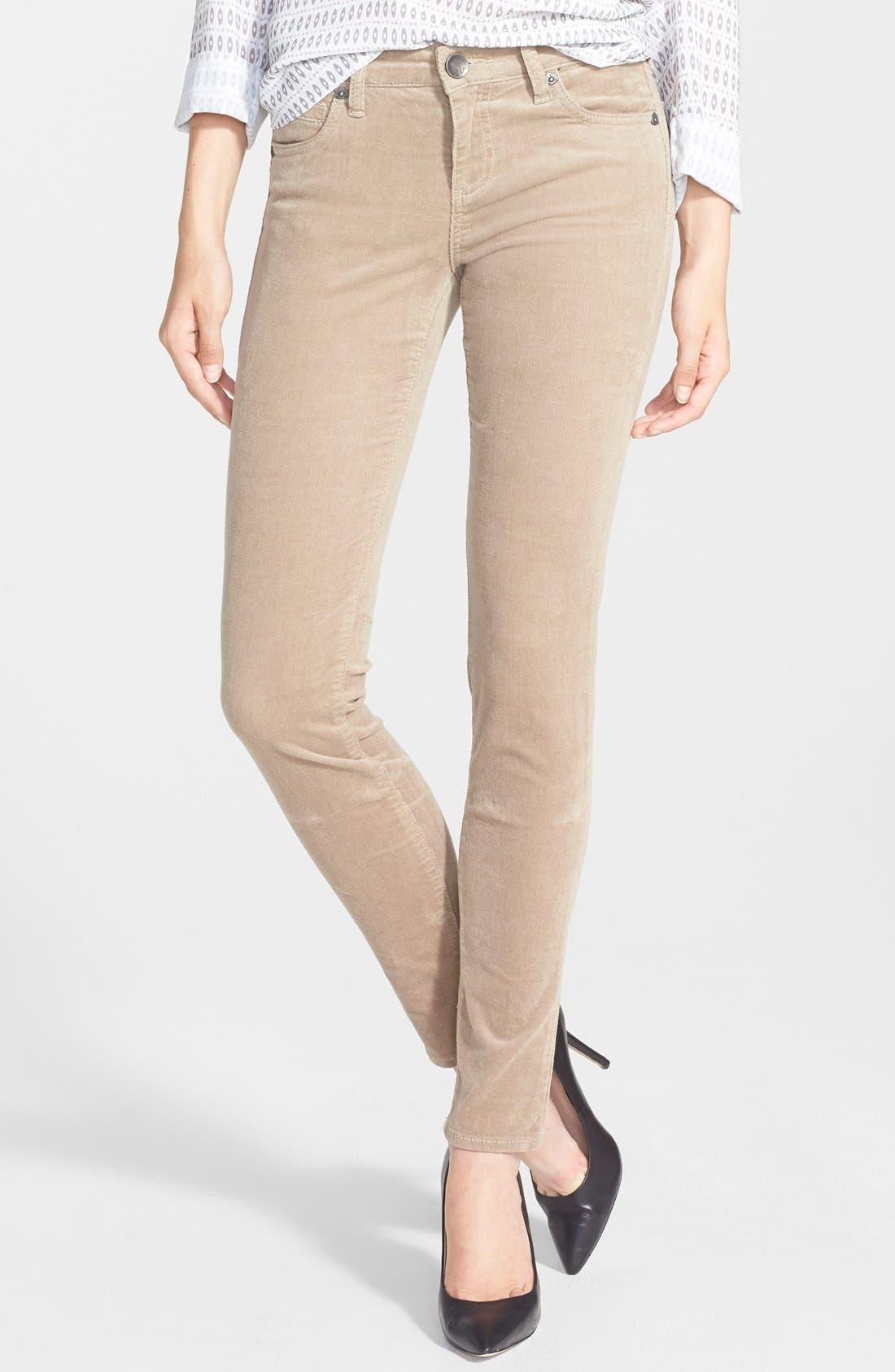 'Diana' Stretch Corduroy Skinny Pants,                             Main thumbnail 24, color,
