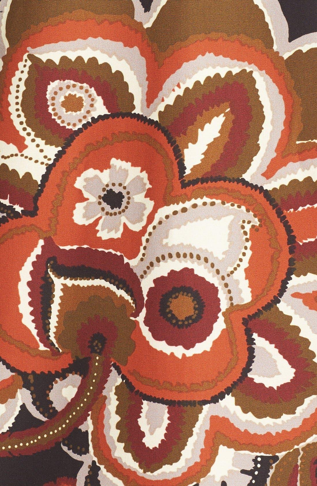 'Makeda' Paisley Print Faille Jacket,                             Alternate thumbnail 6, color,                             001