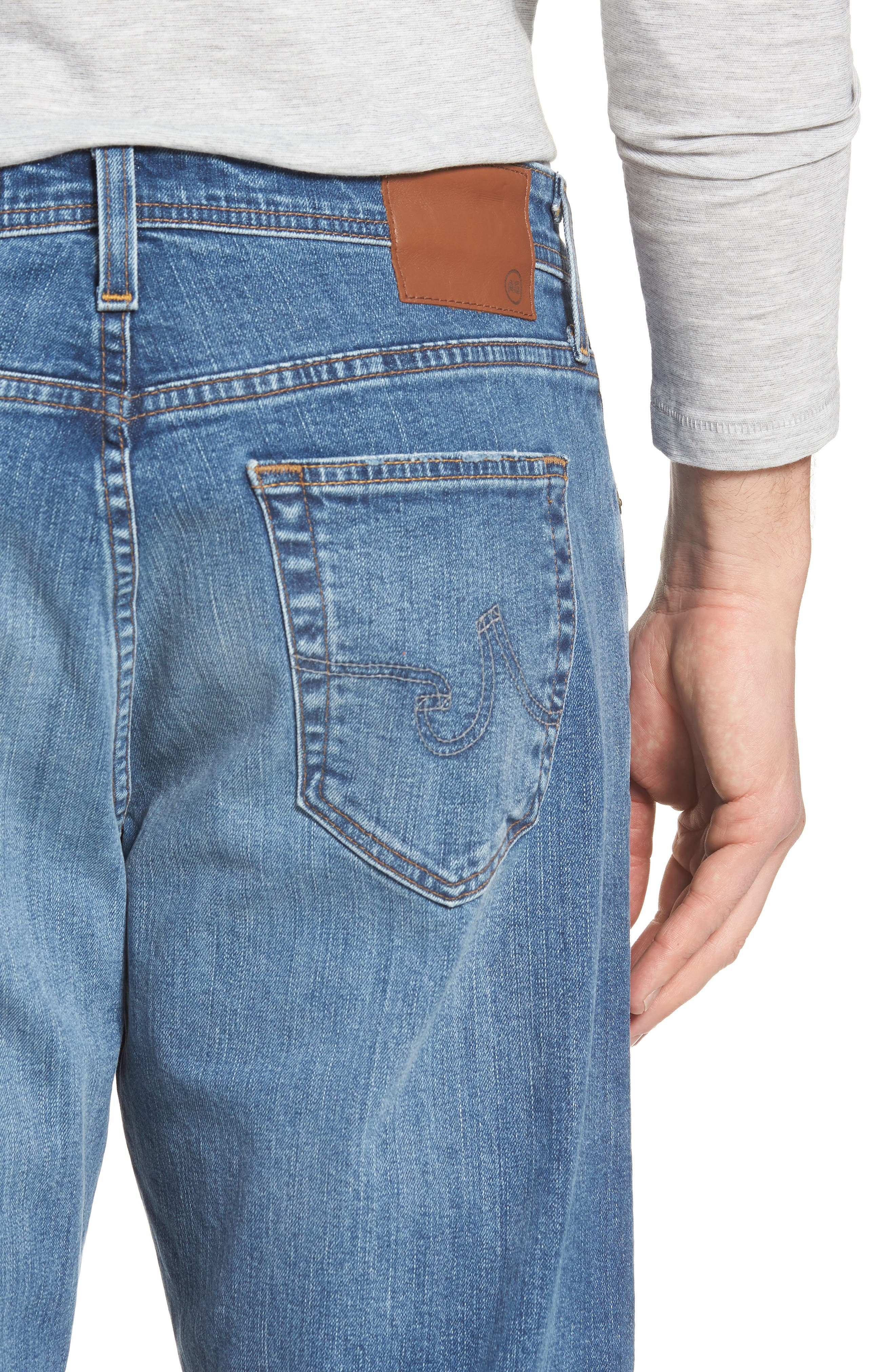 Ives Straight Leg Jeans,                             Alternate thumbnail 4, color,                             485