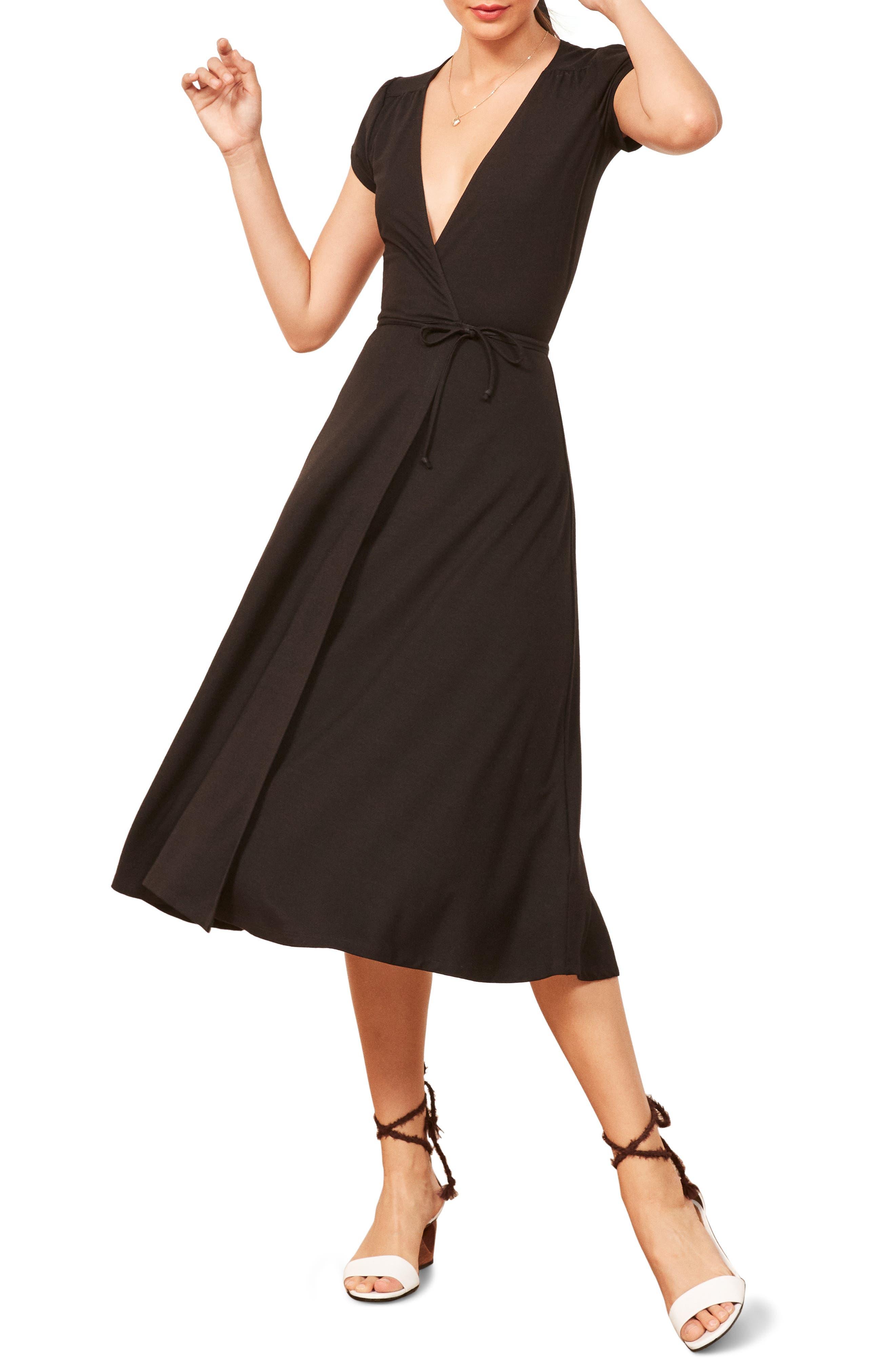 Becca Midi Dress,                         Main,                         color, 001