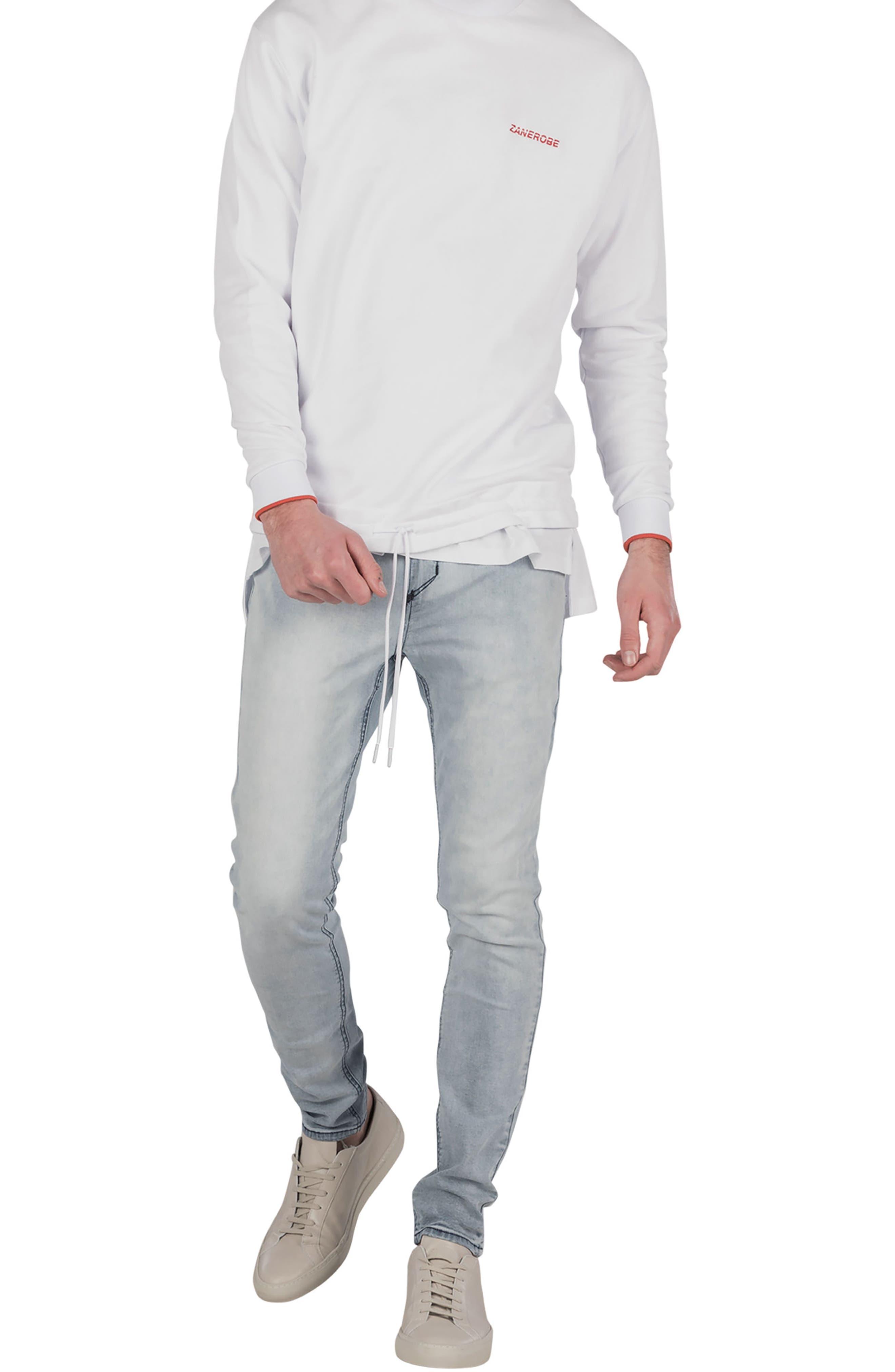 League Boxy Sweatshirt,                             Alternate thumbnail 4, color,                             WHITE
