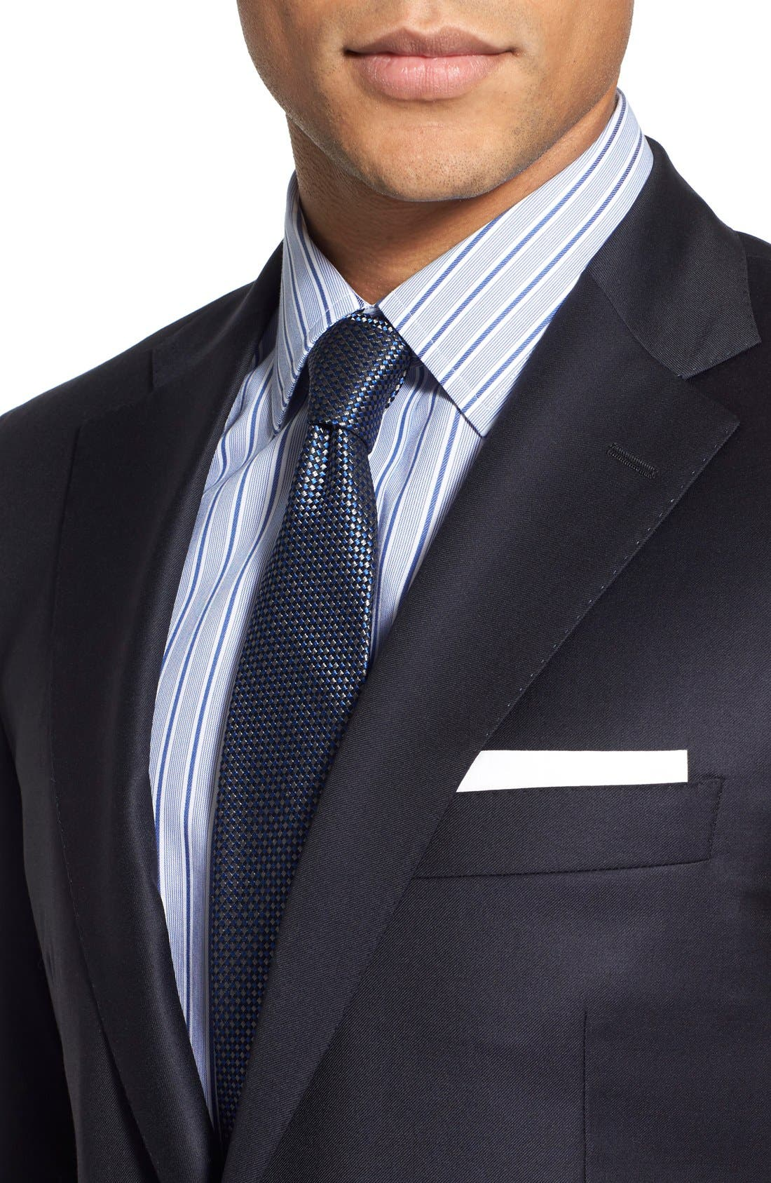 Classic B Fit Solid Wool Suit,                             Alternate thumbnail 6, color,