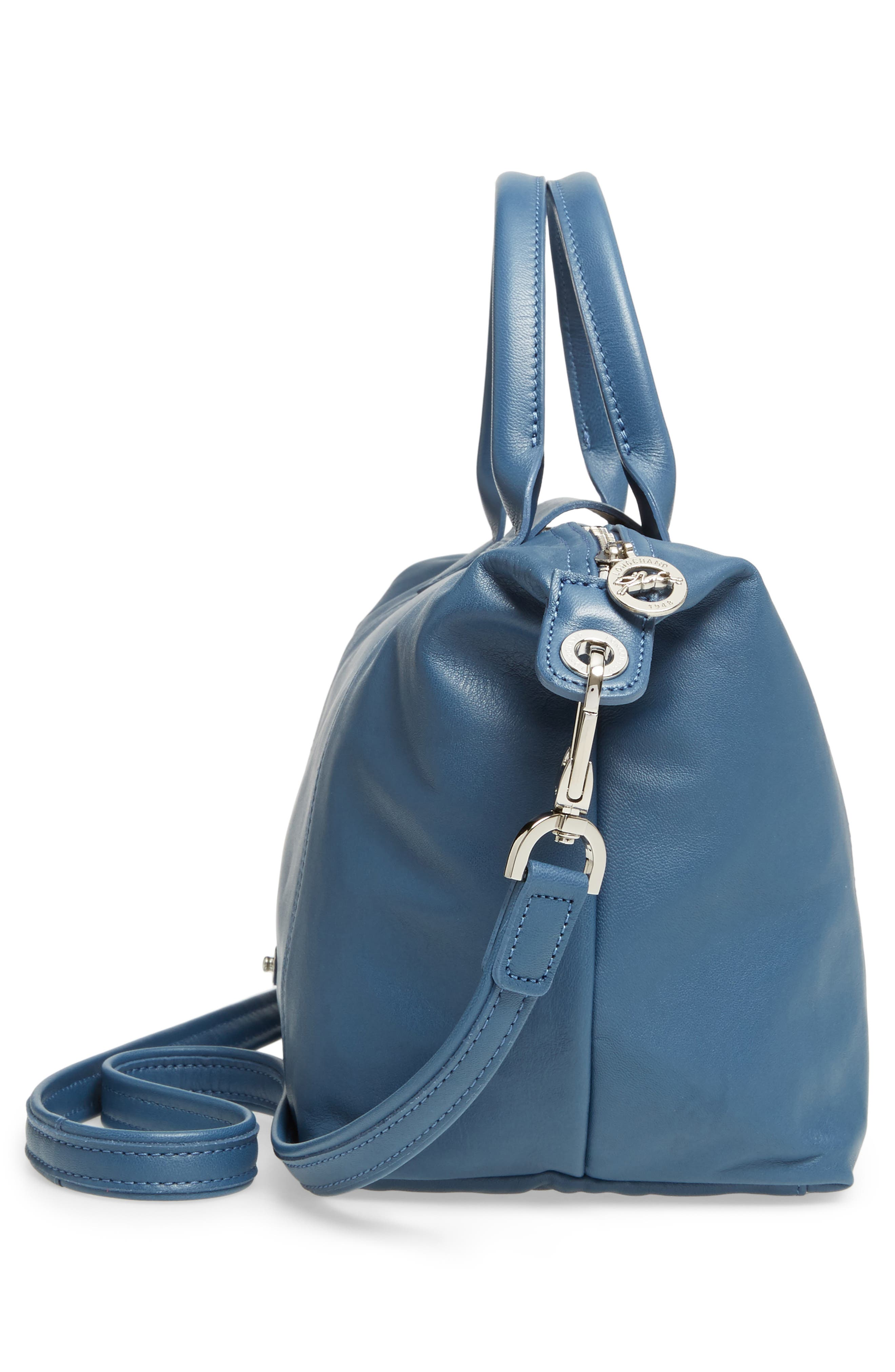 Small 'Le Pliage Cuir' Leather Top Handle Tote,                             Alternate thumbnail 74, color,